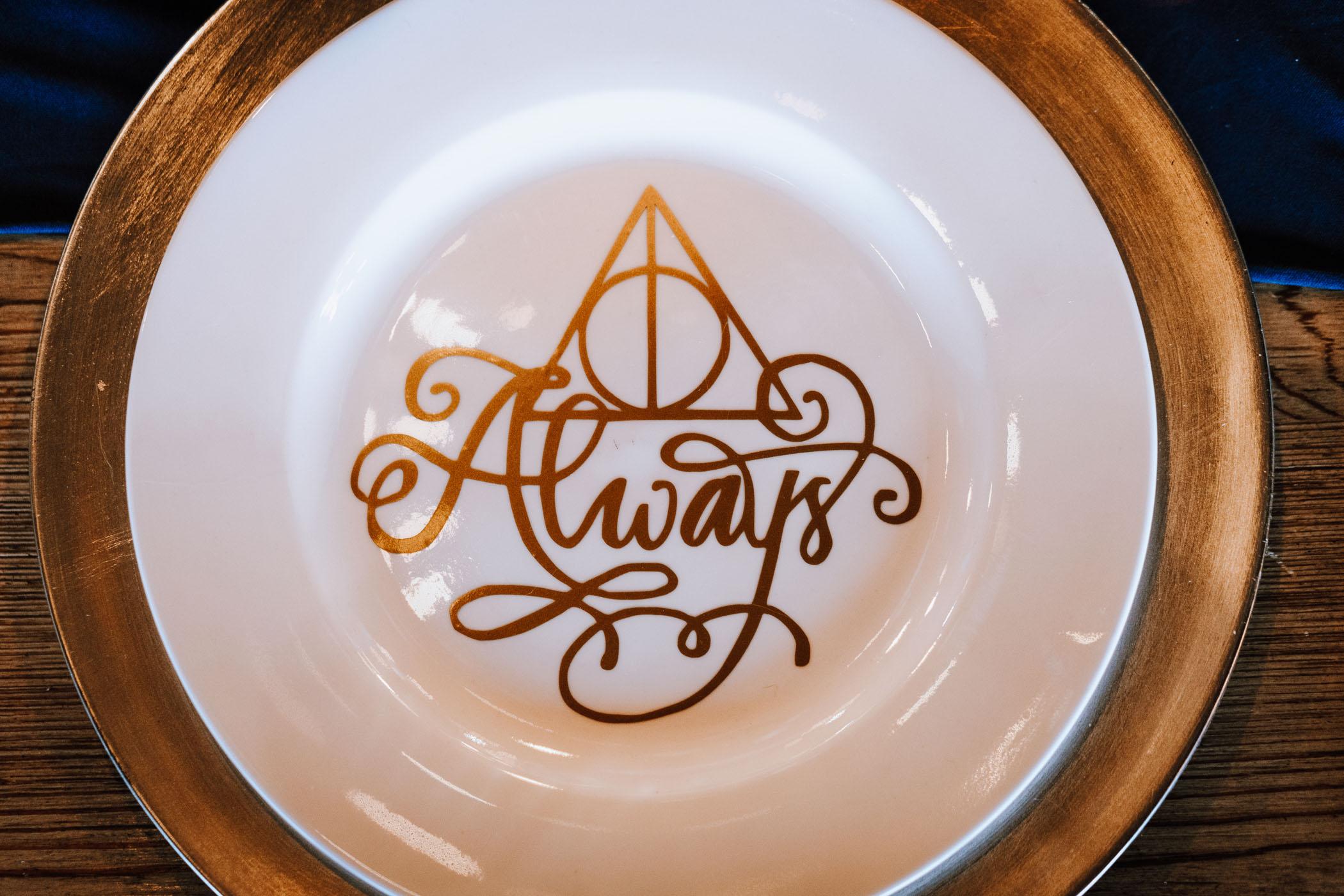 harry potter dinner plate