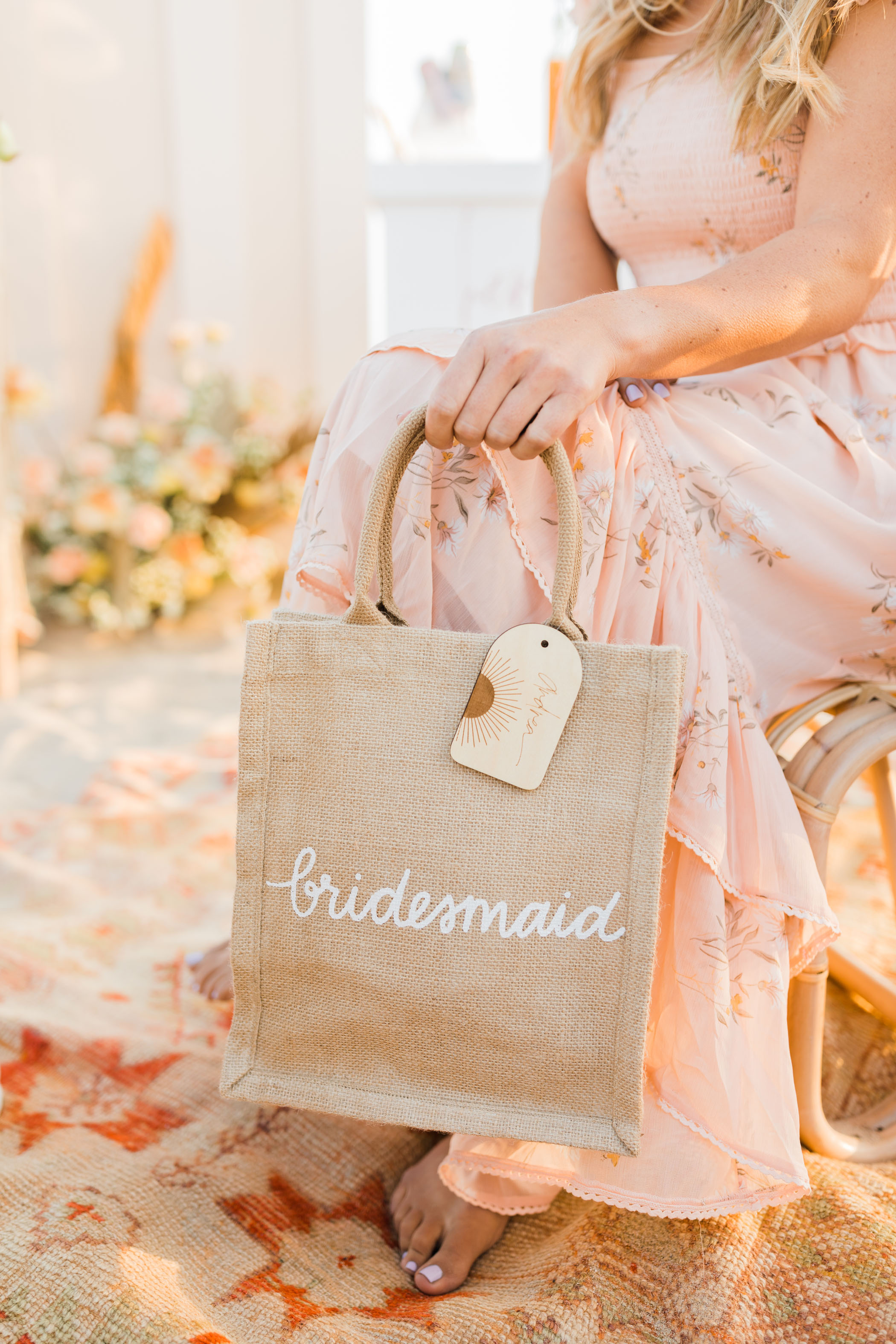 bridesmaids favor gift bags