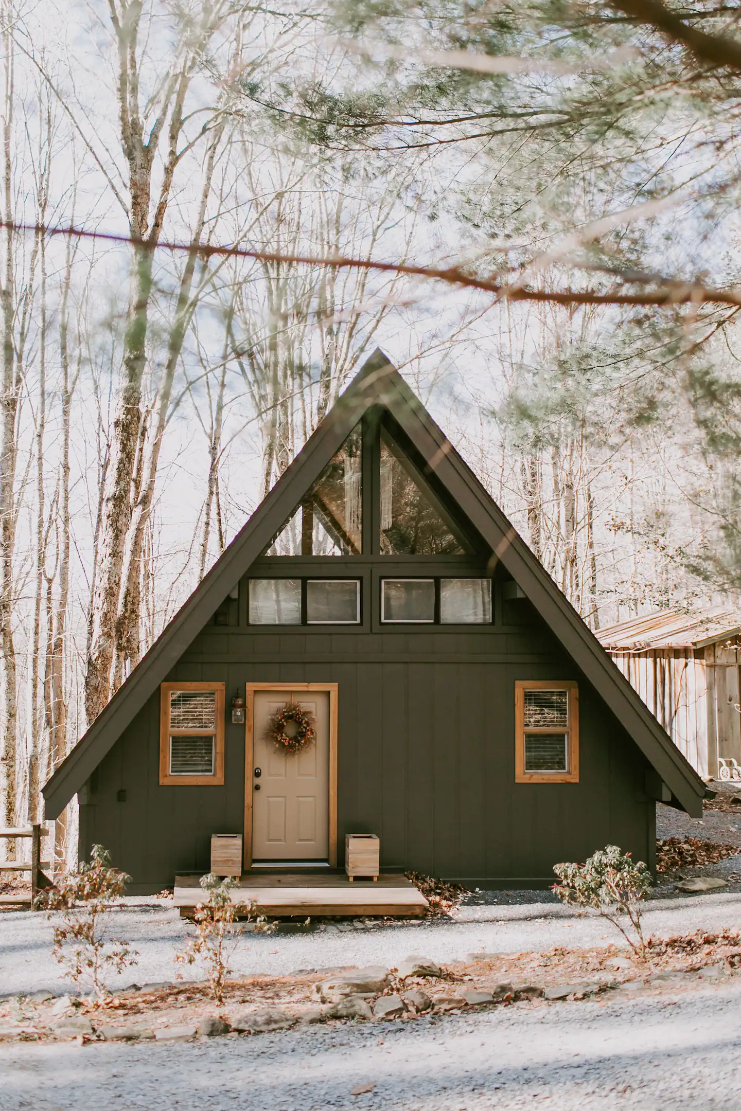 romantic airbnb a-frame cabin