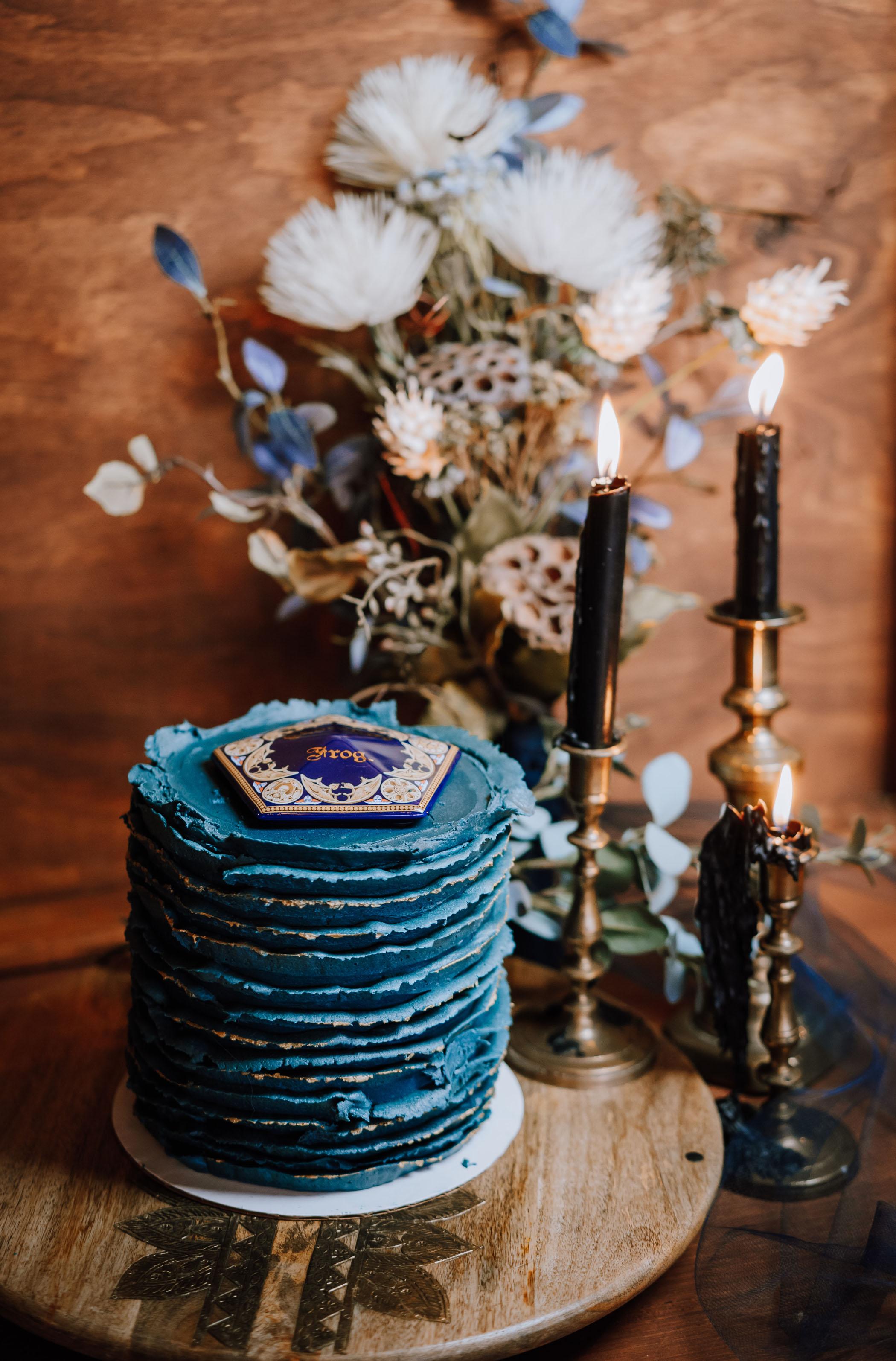 chocolate frog wedding cake Harry Potter wedding ideas