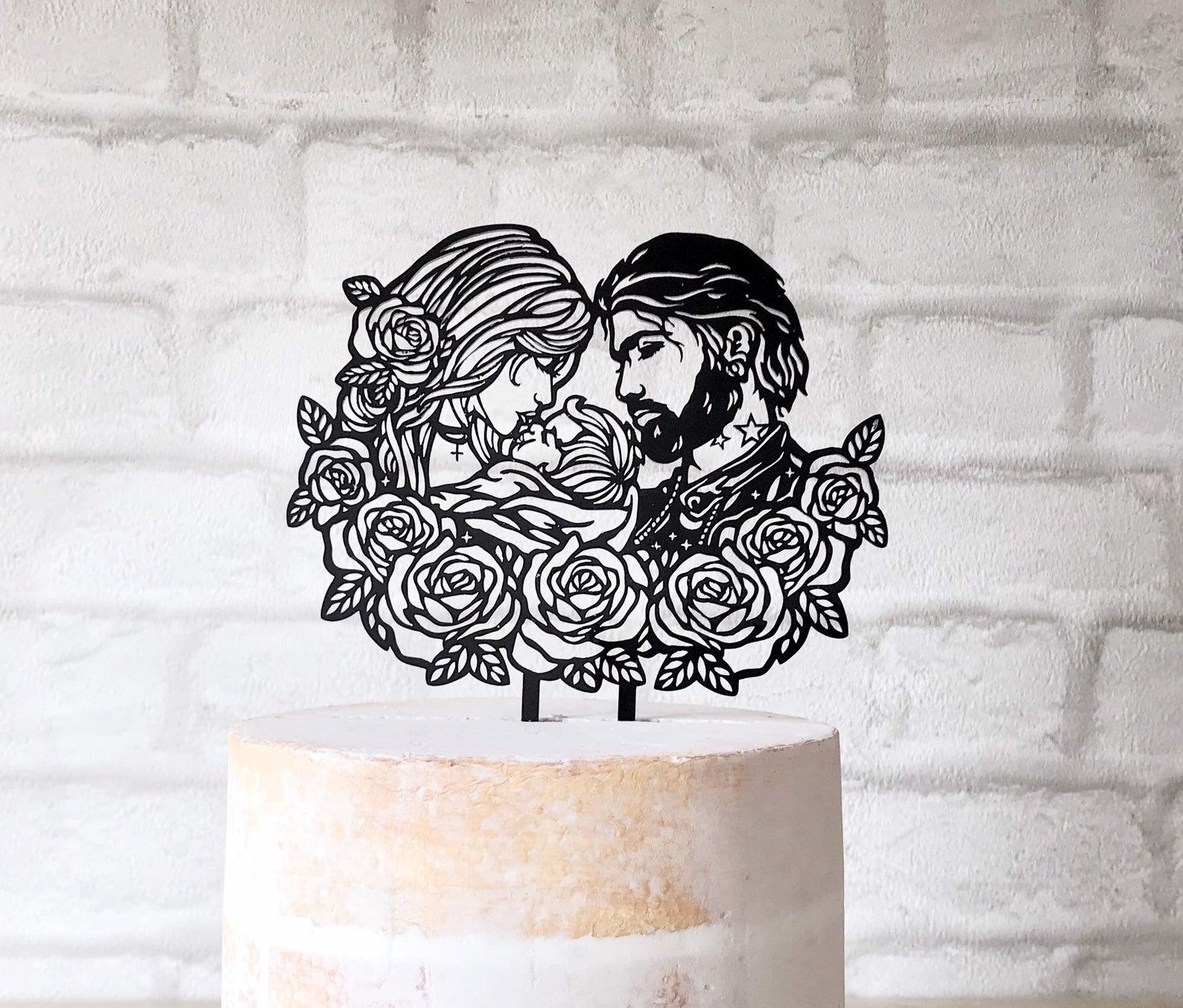 alternative wedding cake toppers
