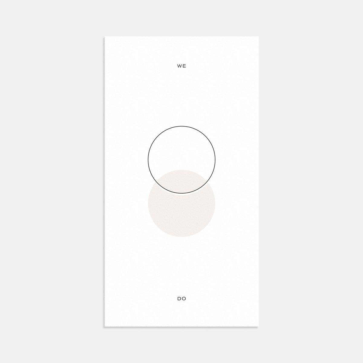 artifact circles minimal wedding invitation