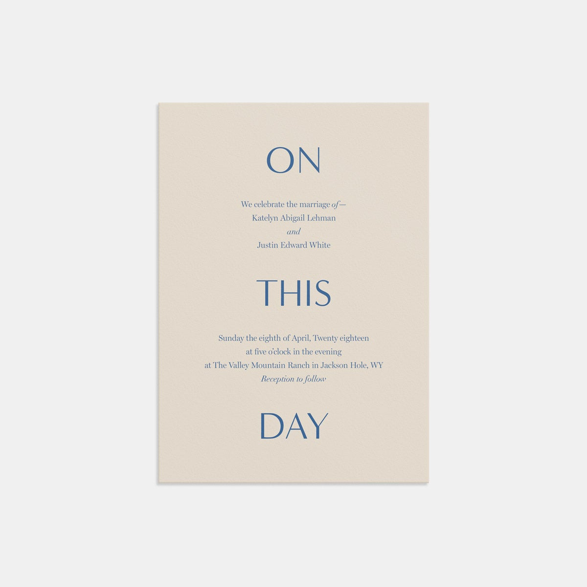 artifact on this day invitation