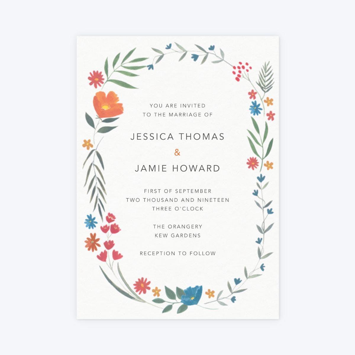autumn meadow papier wedding invitation