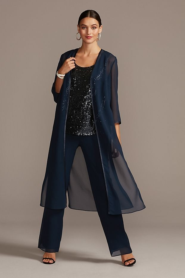 best Davids Bridal navy mother of the bride pant suits with sequins