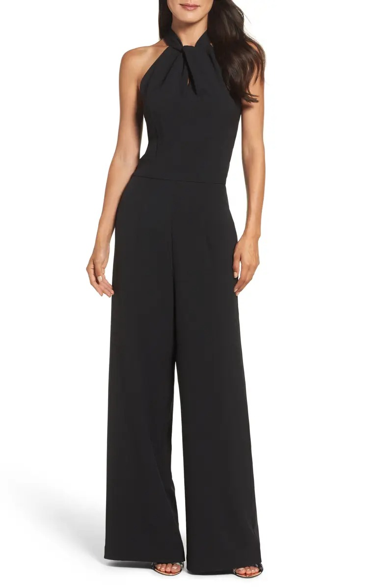 black mother of the bride jumpsuit from Nordstrom