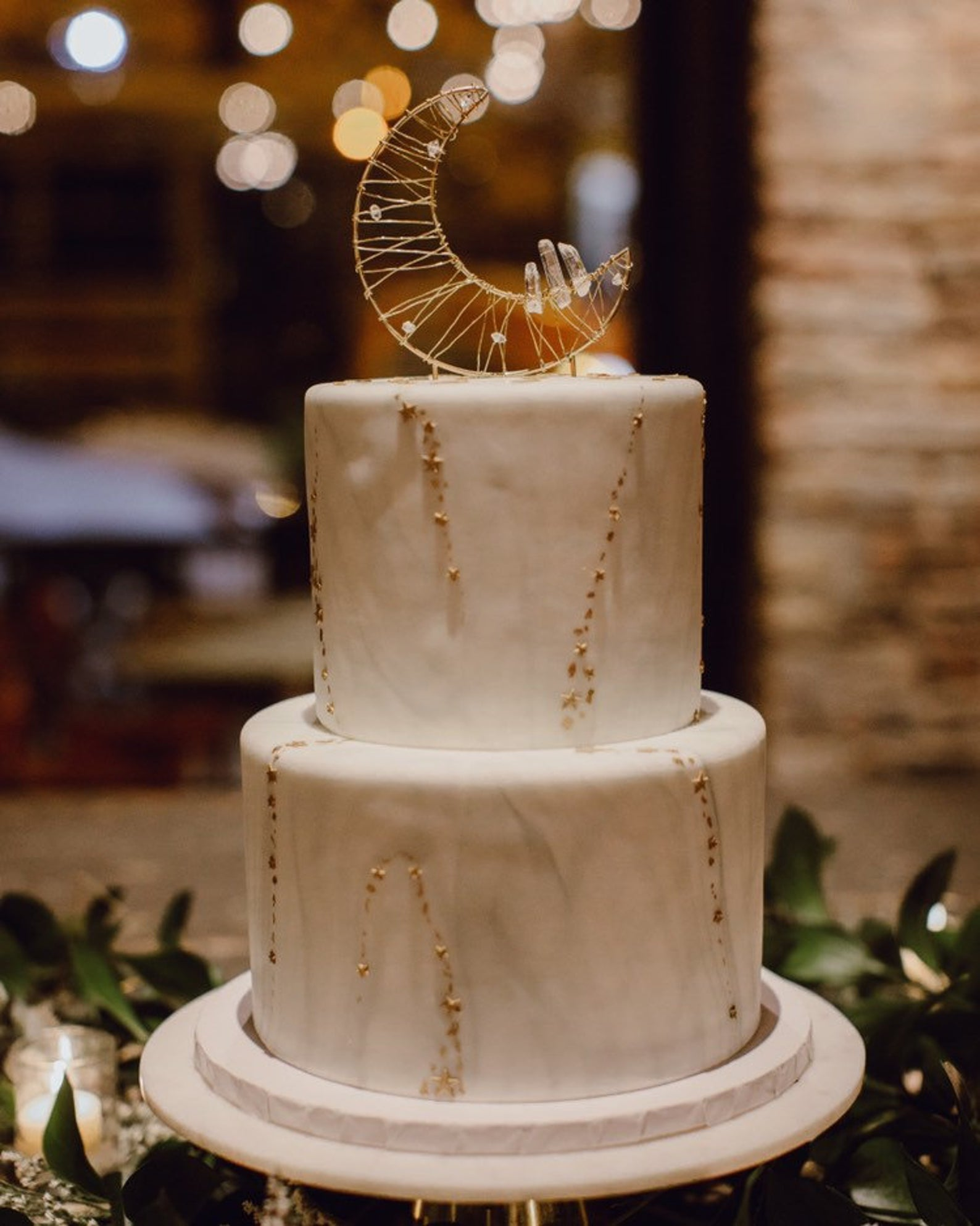 crystal moon cake topper