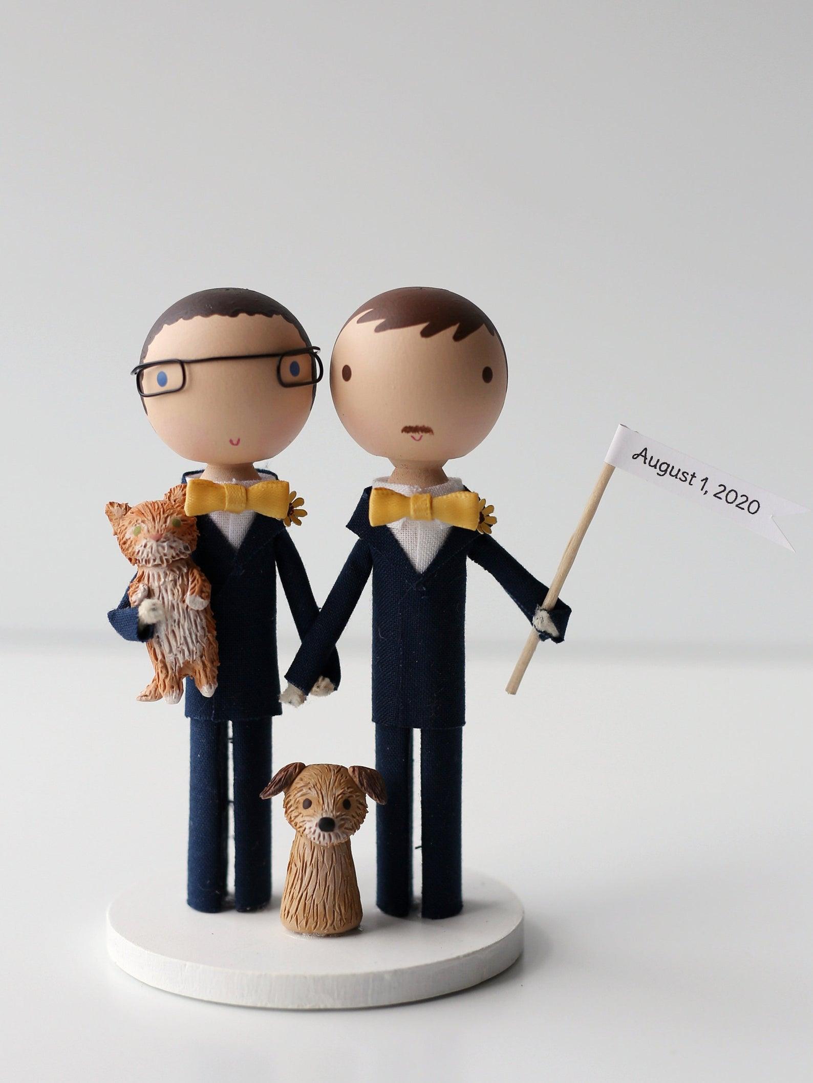 custom same sex wedding cake topper