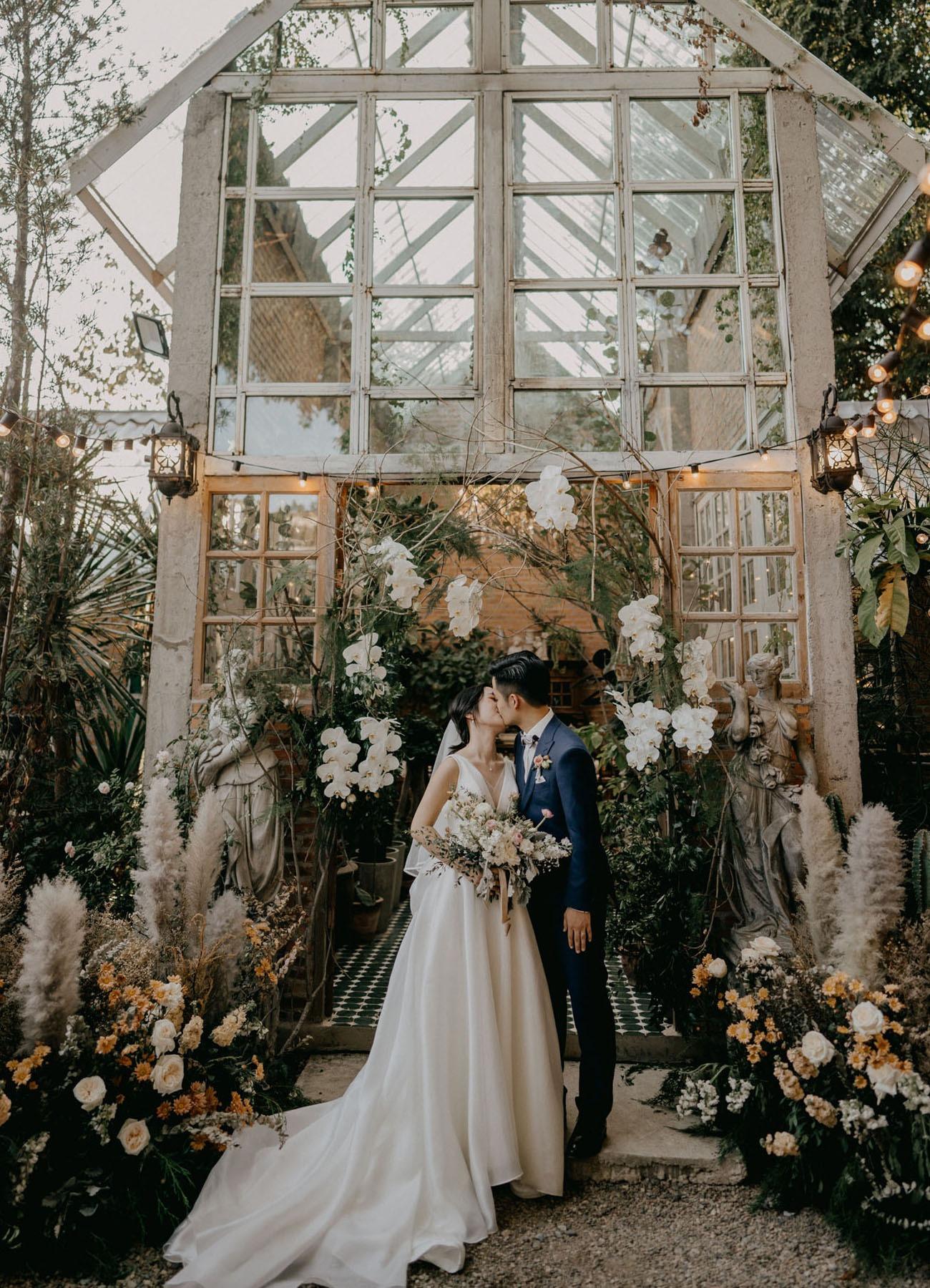 Thailand glass house ceremony destination wedding idea