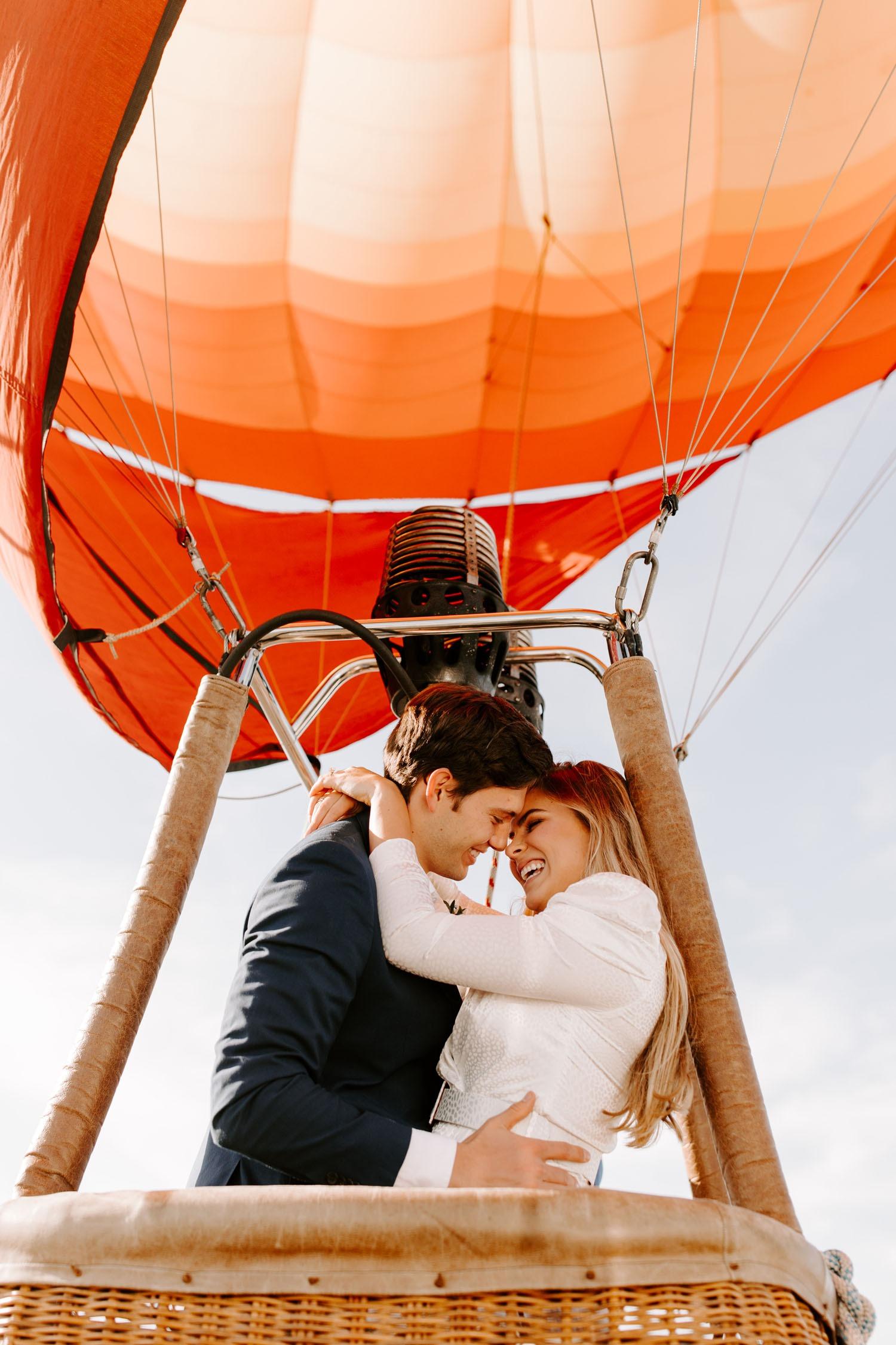hot air balloon destination wedding ideas