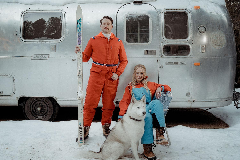 winter wedding at a world class skiing location destination wedding idea