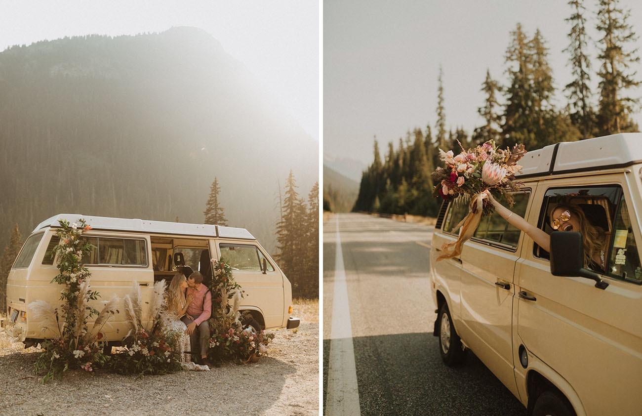 camper van traveling honeymoon destinations in the US