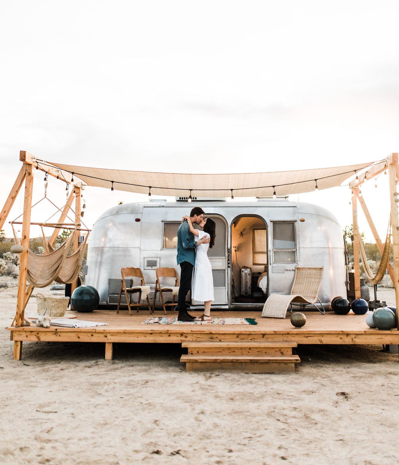 Joshua Tree Airstream trailer honeymoon destinations in the US