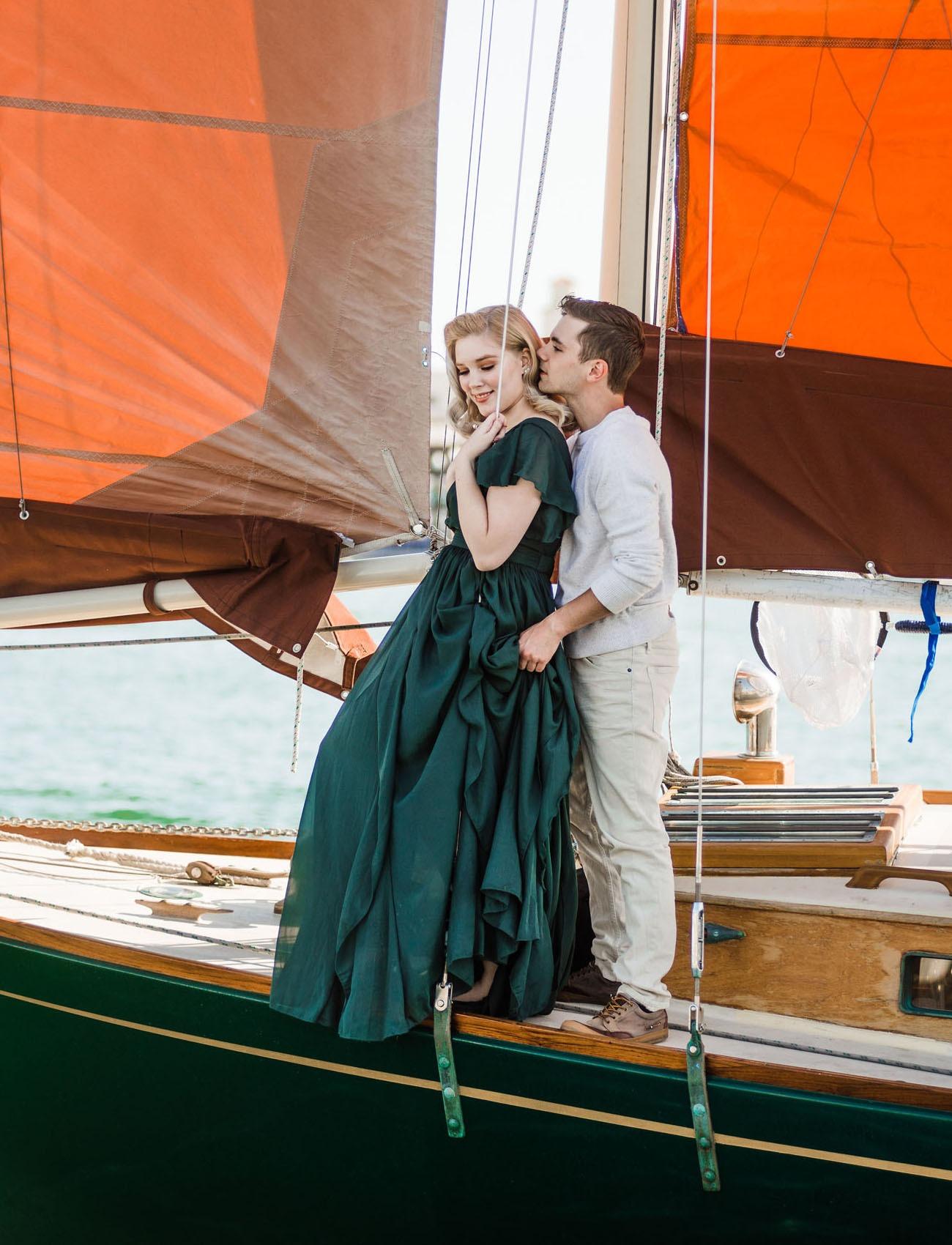 couple enjoying their honeymoon in Newport Beach California USA