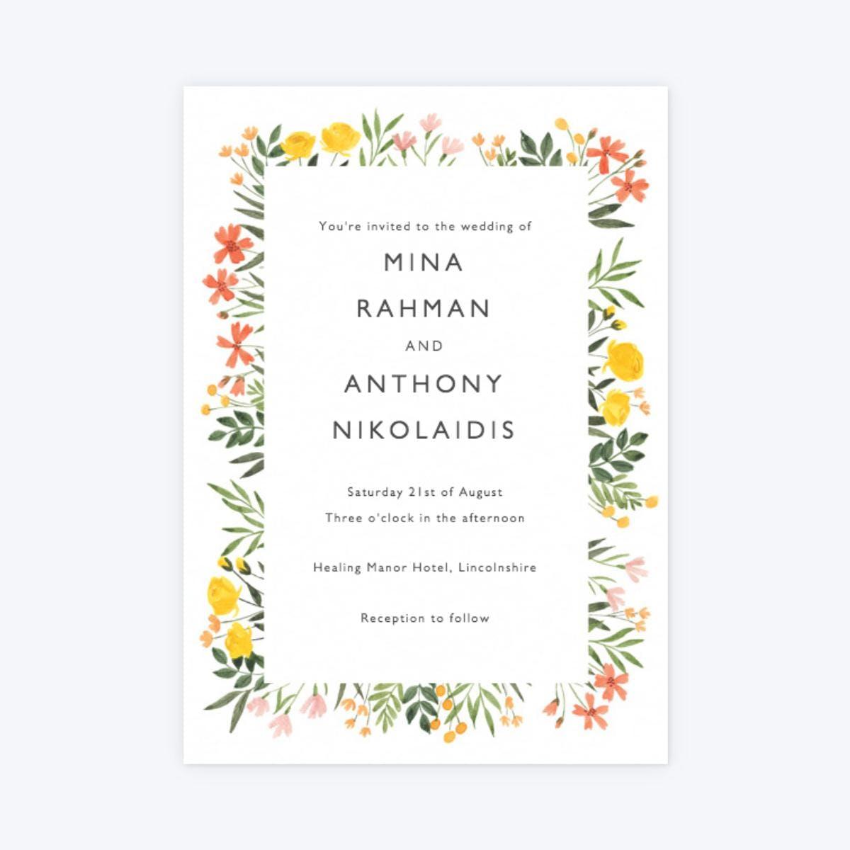 papier english meadow invitation