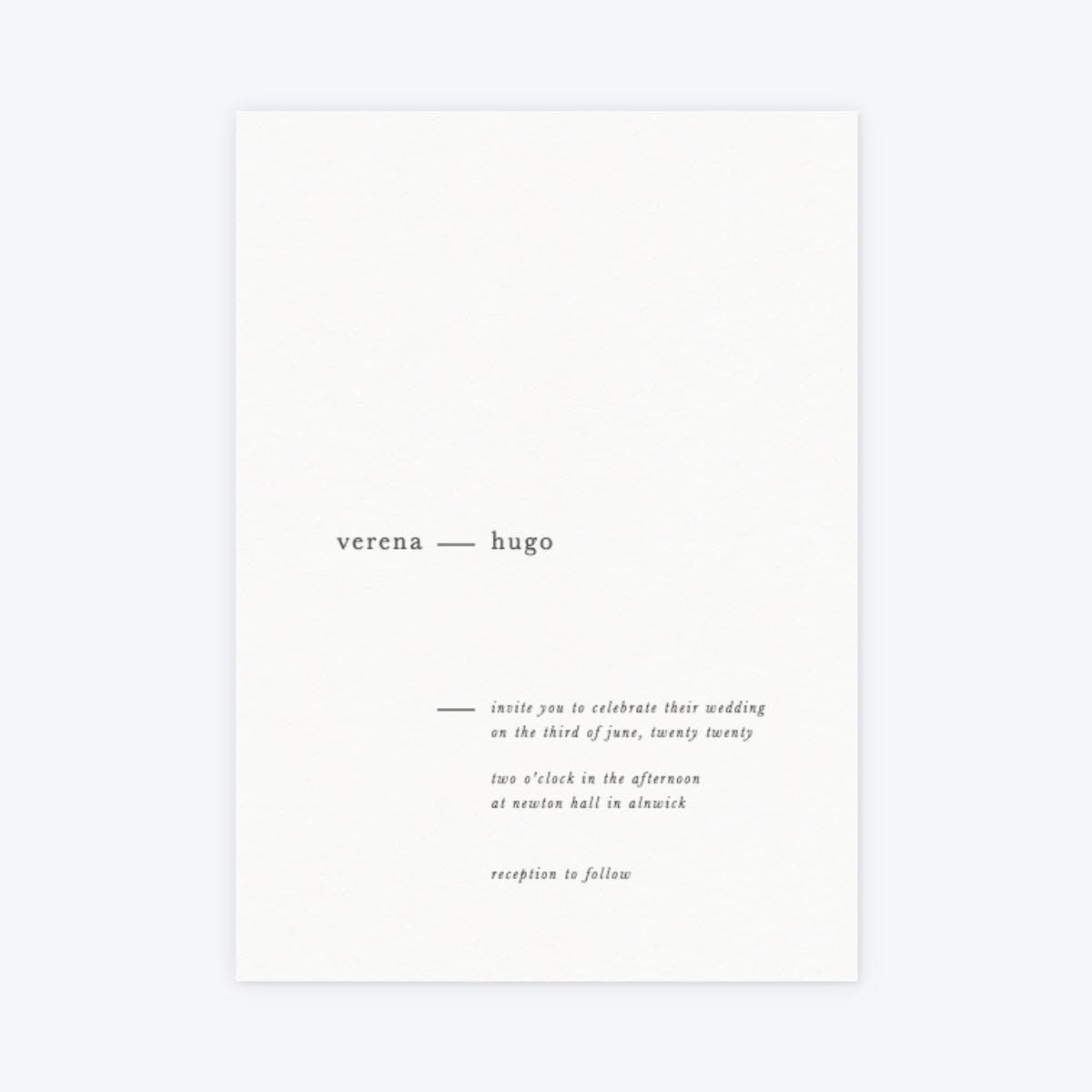 papier minimal wedding invitation