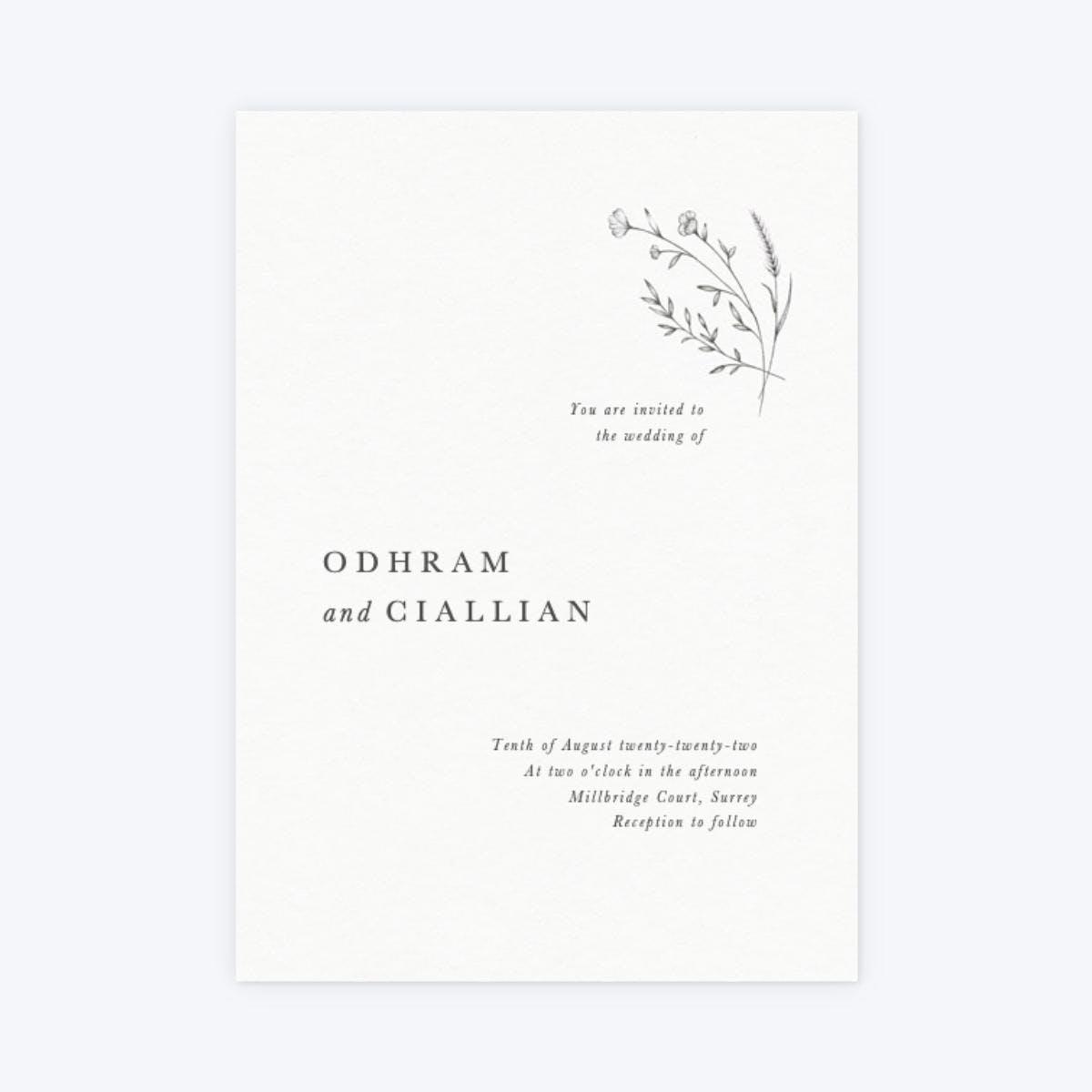 papier modern sprig invitation