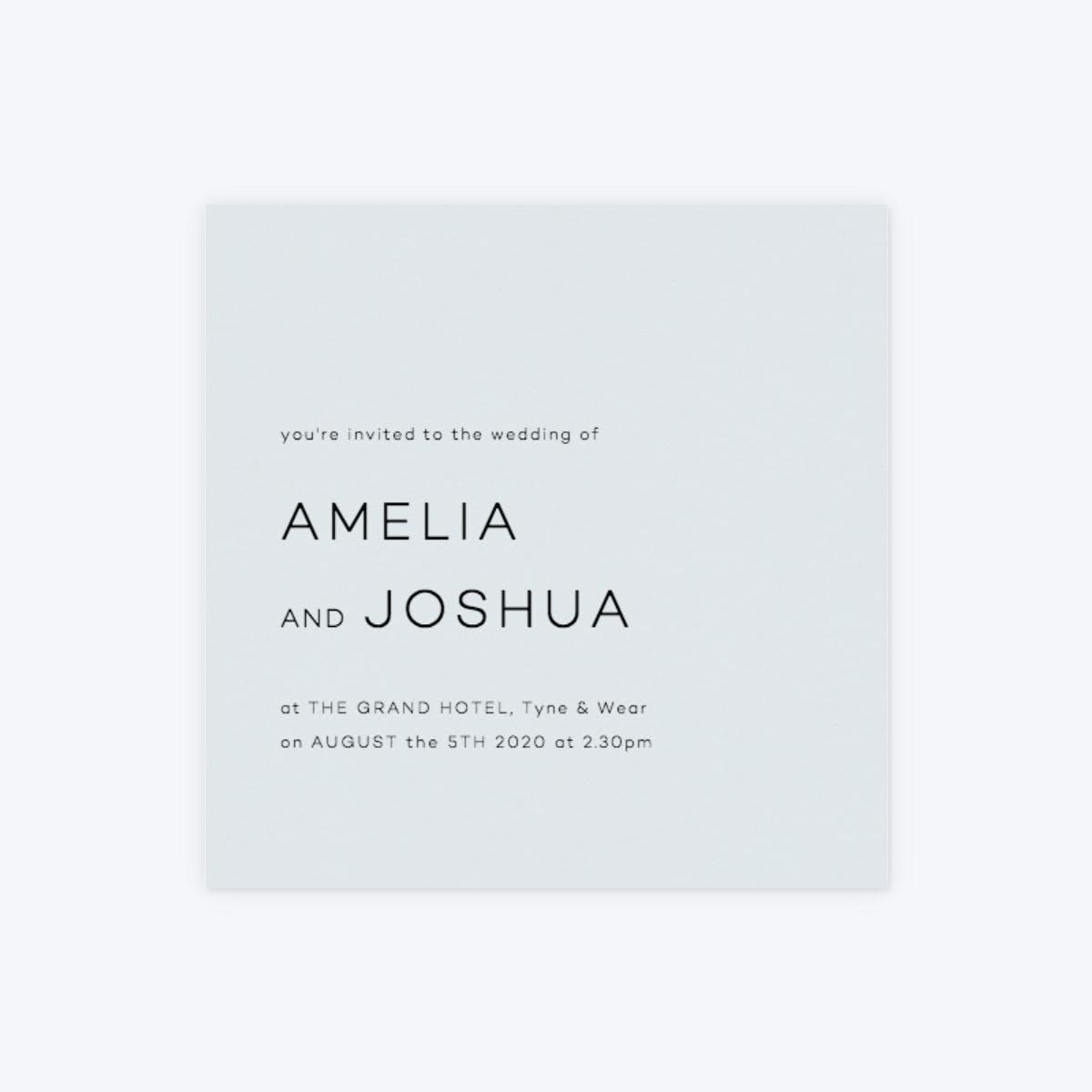 papier modern square invitation