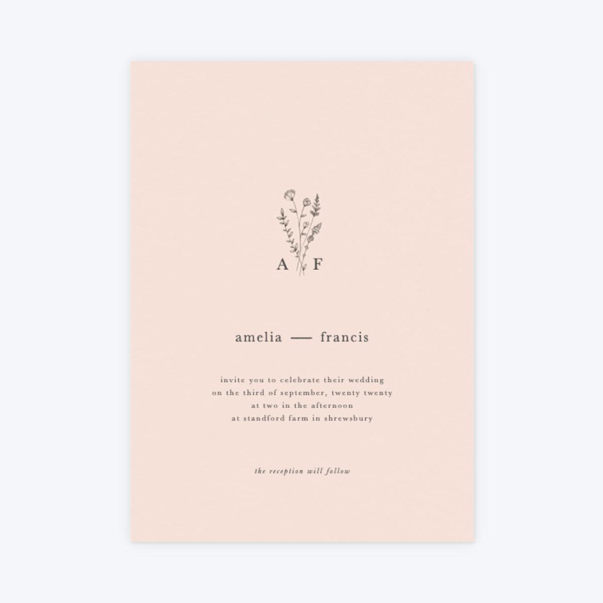 papier wildflower monogram