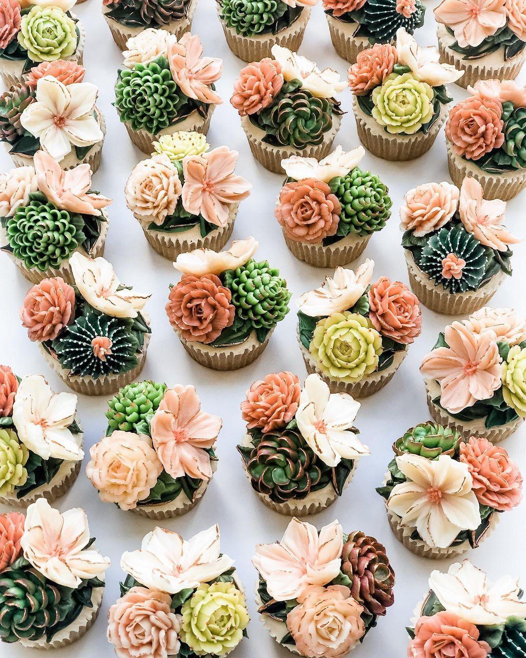 succulent cupcakes wedding dessert