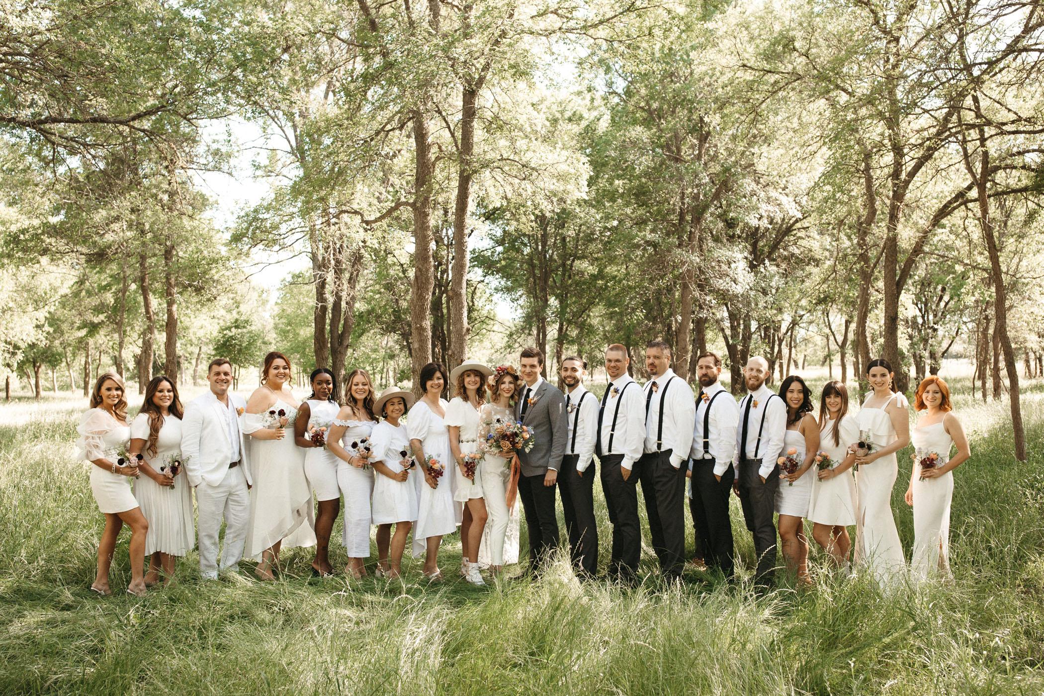 Texas Boho Disco Wedding