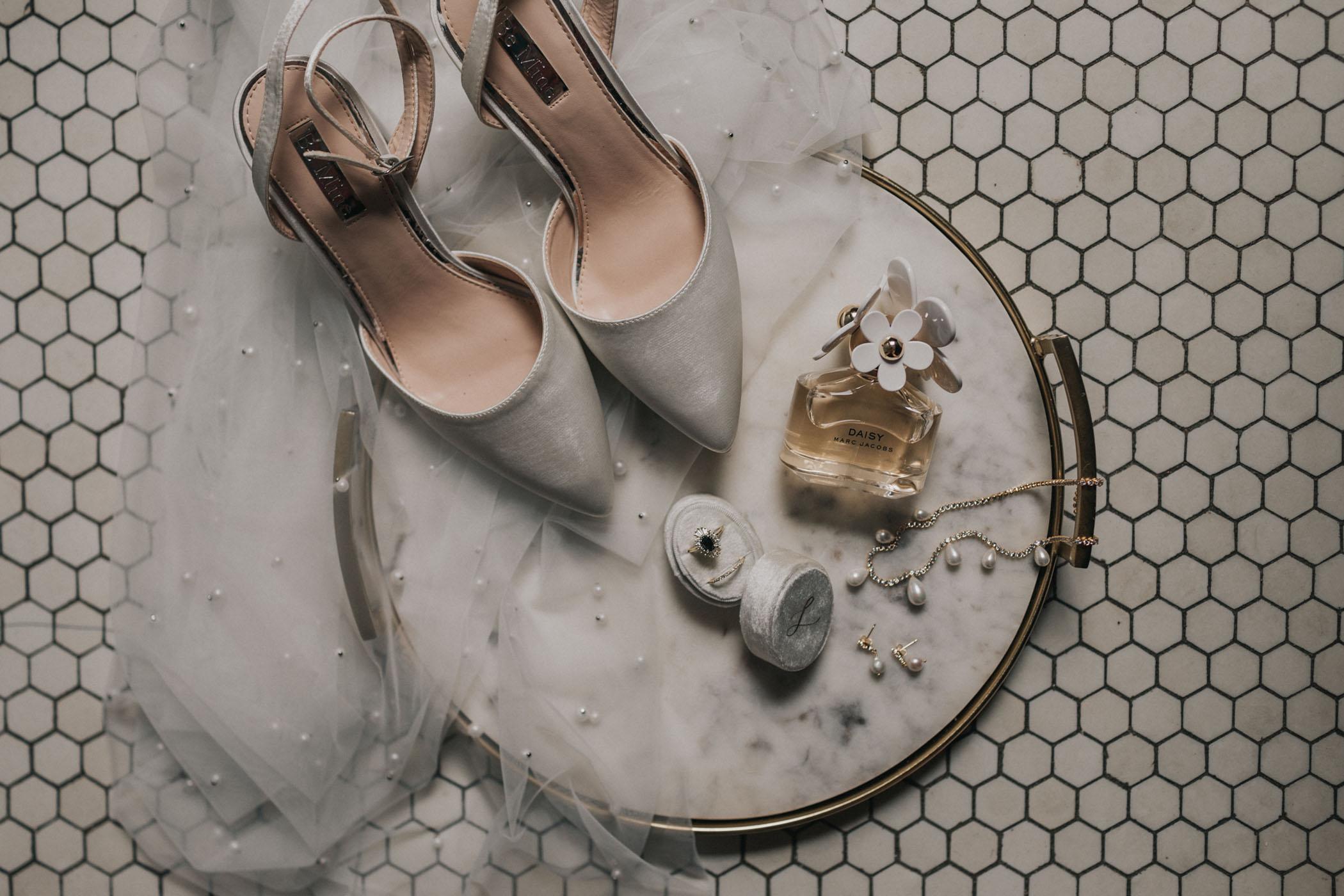 Bridal Details Flatlay