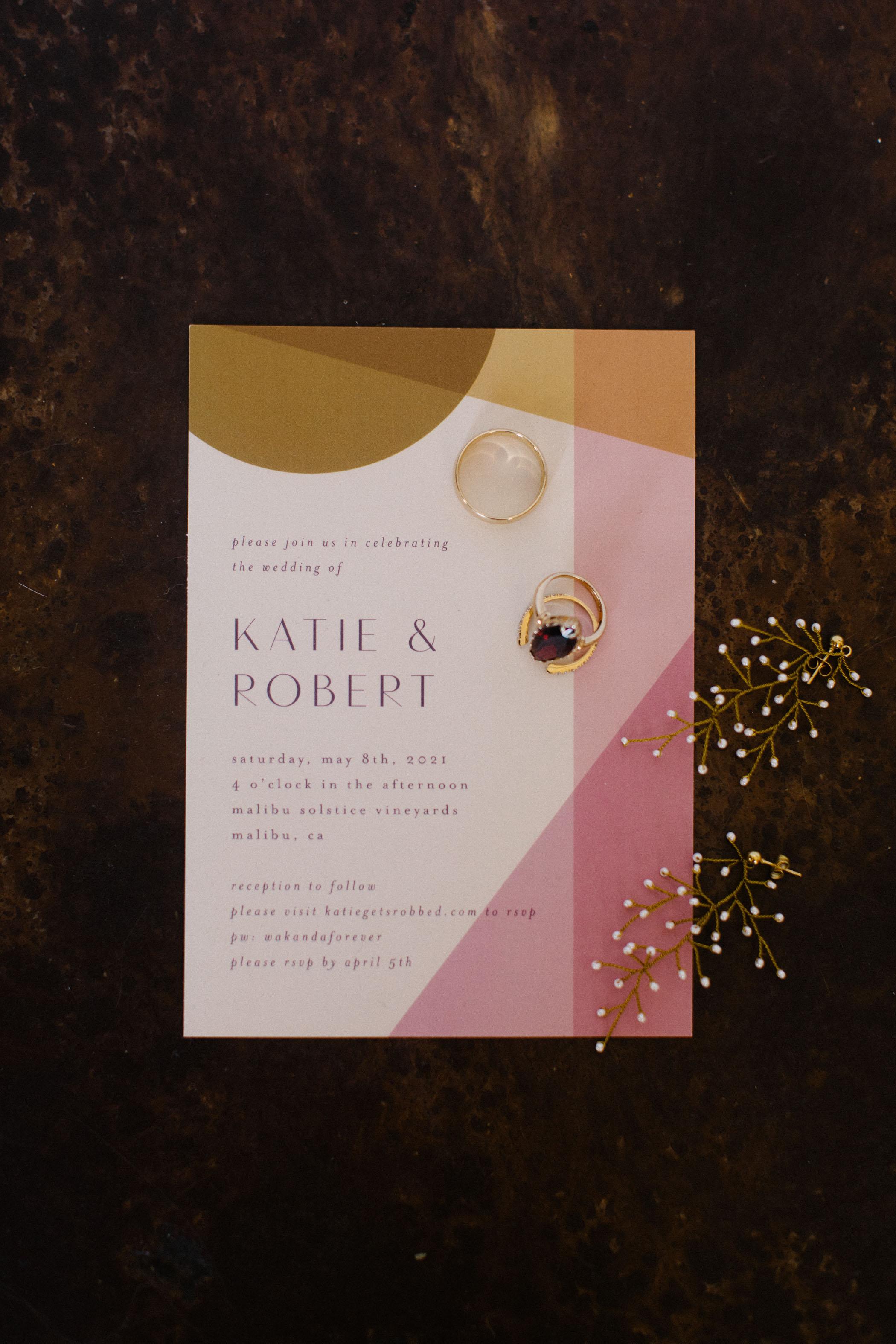 modern pink invitation