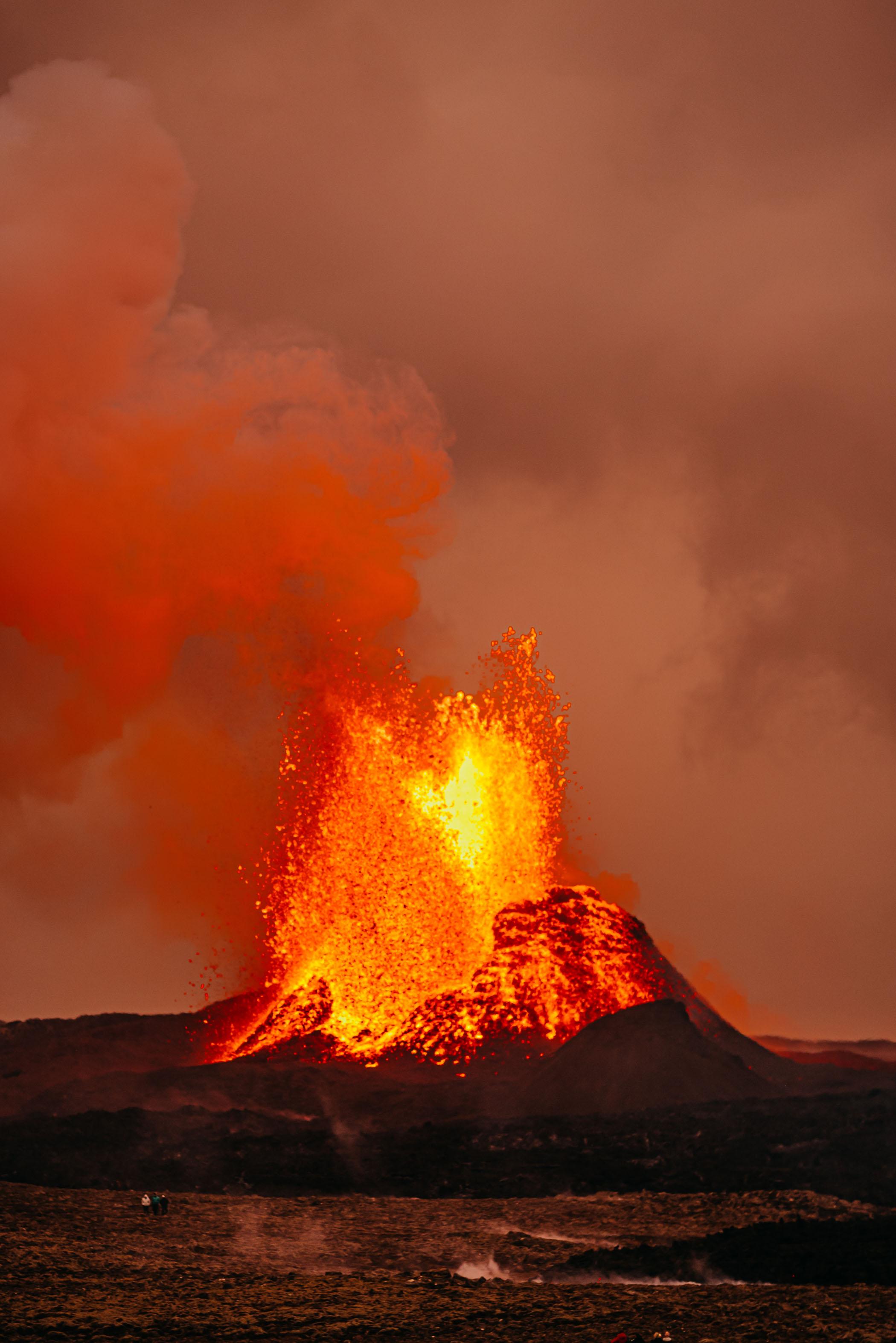 Fagradalsfjall Volcano Erupting