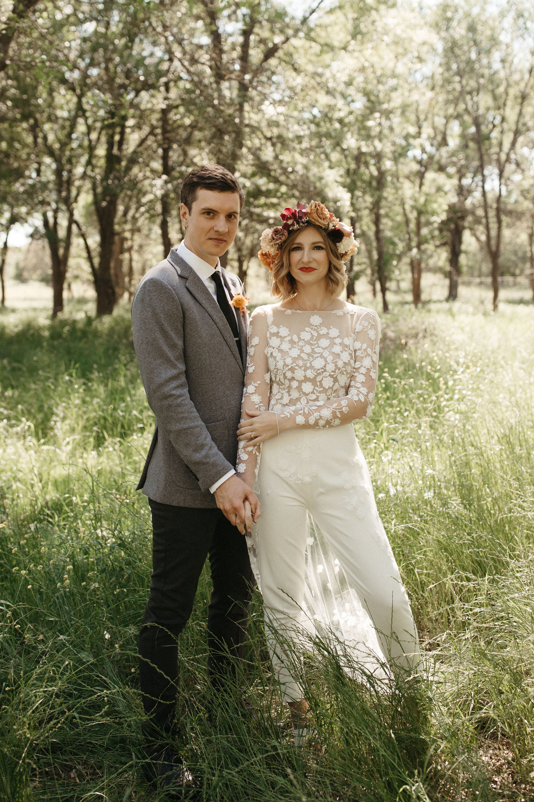 White Jumpsuit Wedding Attire