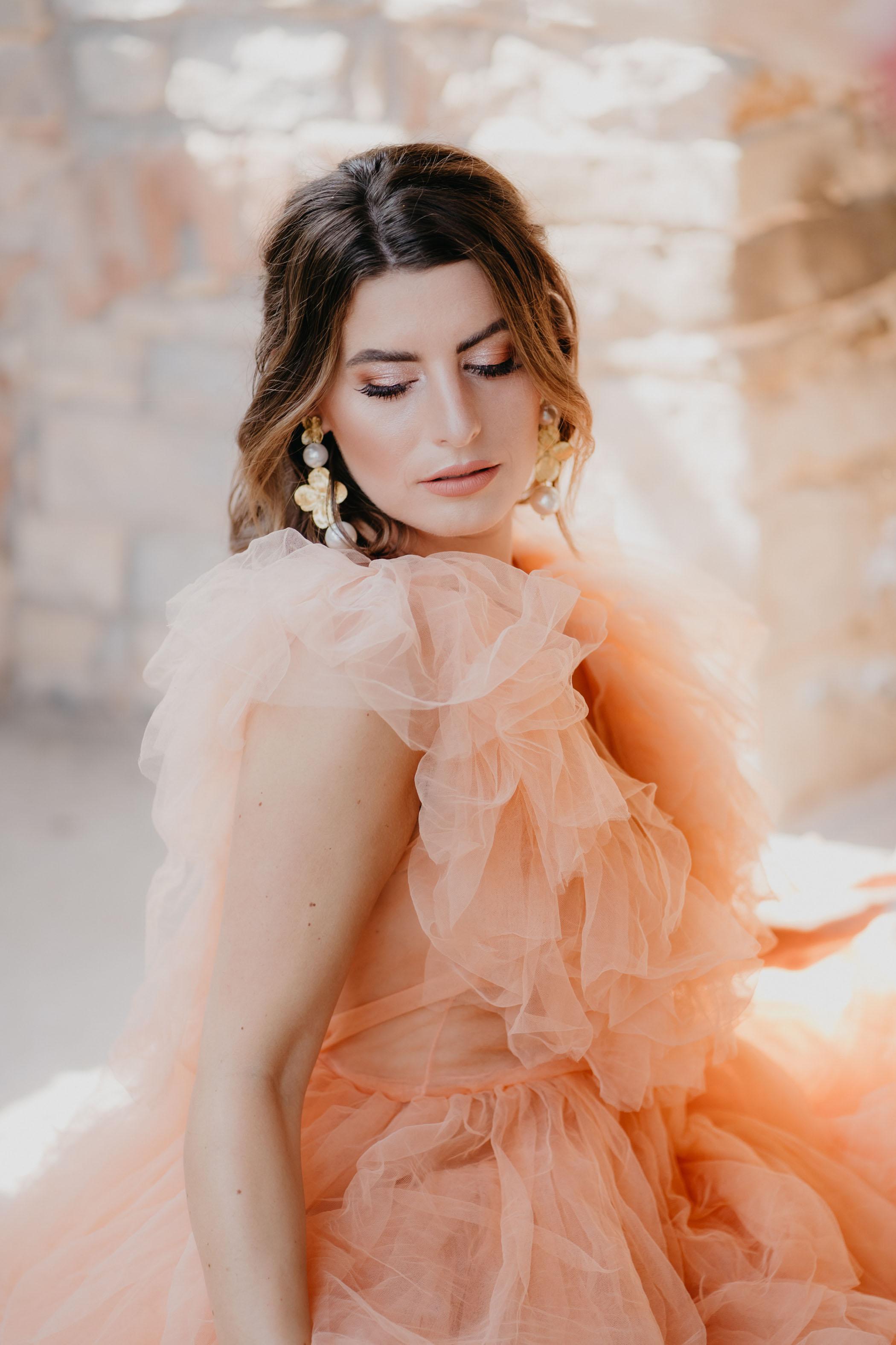Orange Tulle Dress Millia London