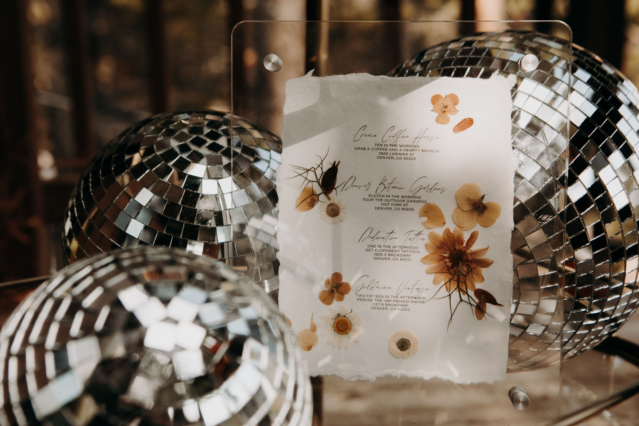 pressed flower itinerary