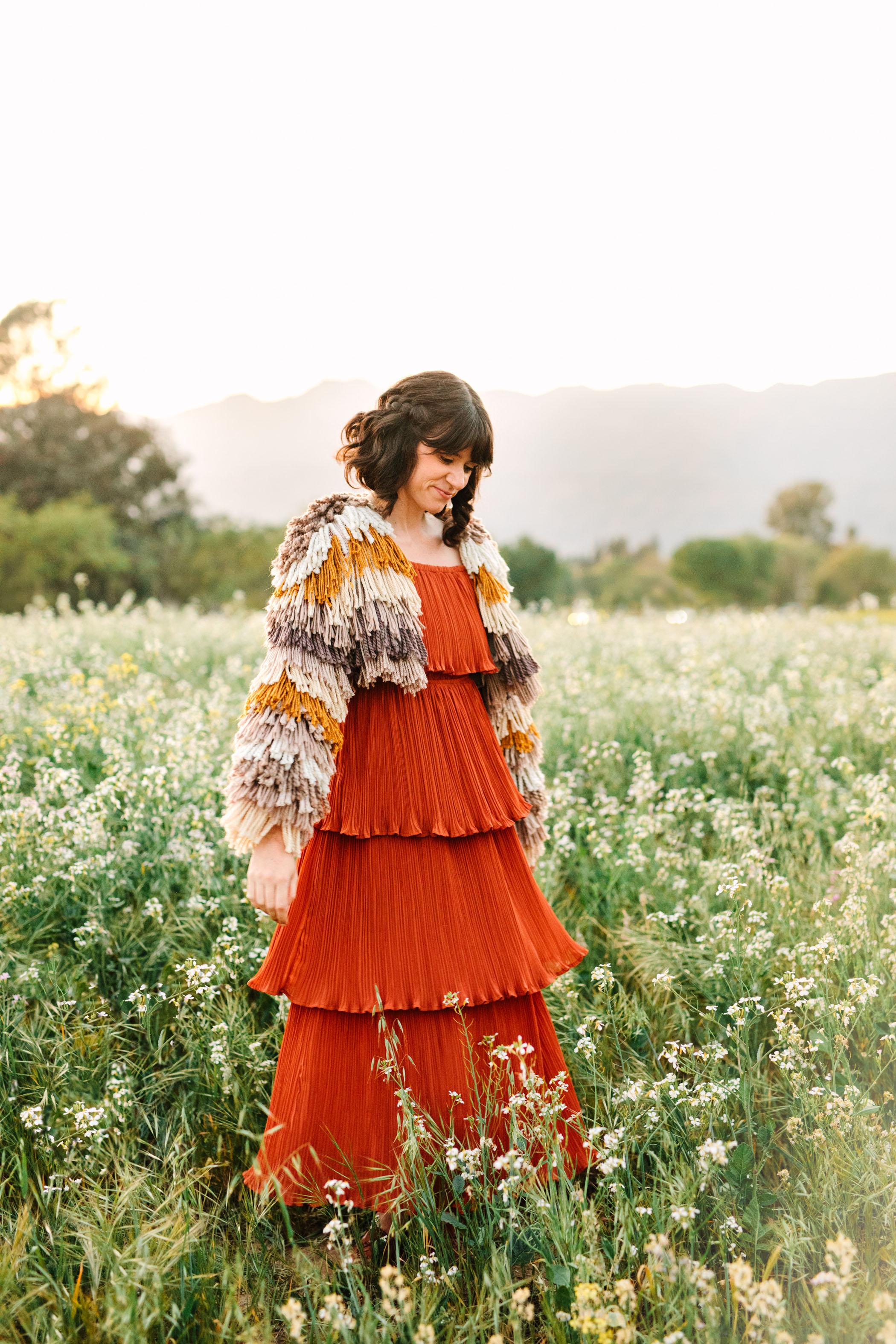 yarn fringe jacket
