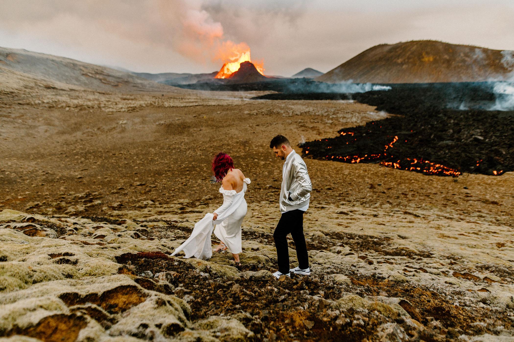 Volcano Wedding in Iceland