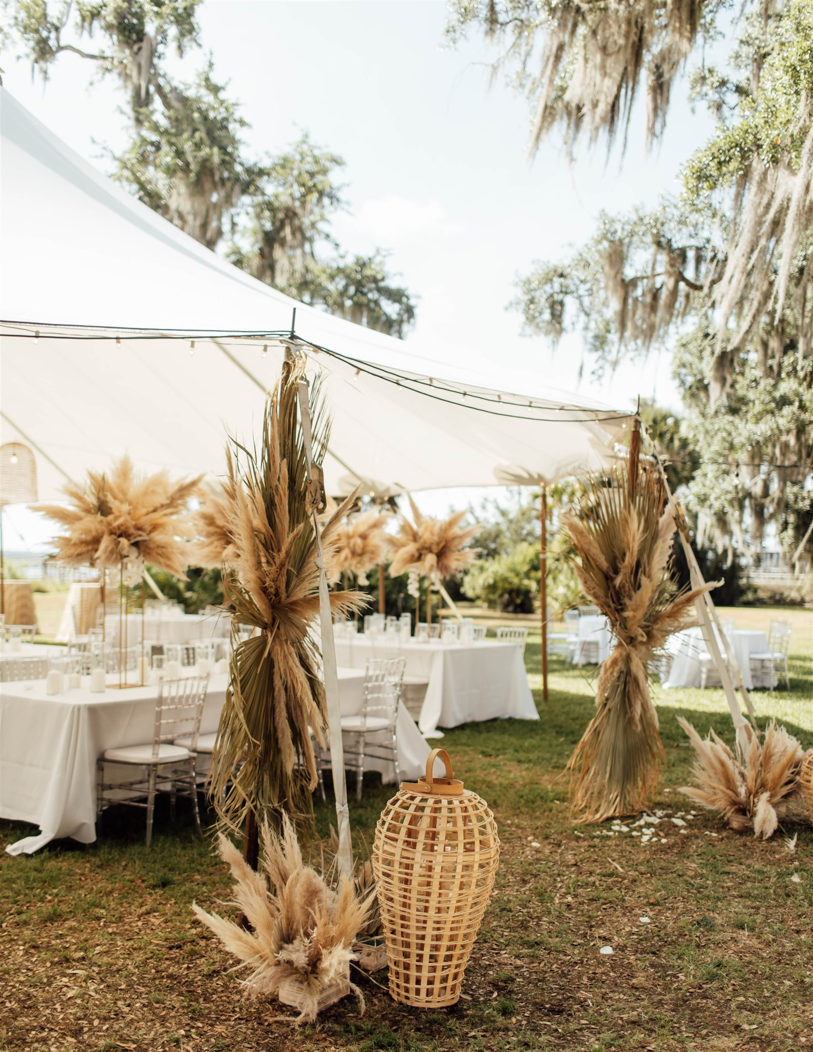 Pampas Grass Reception Decor