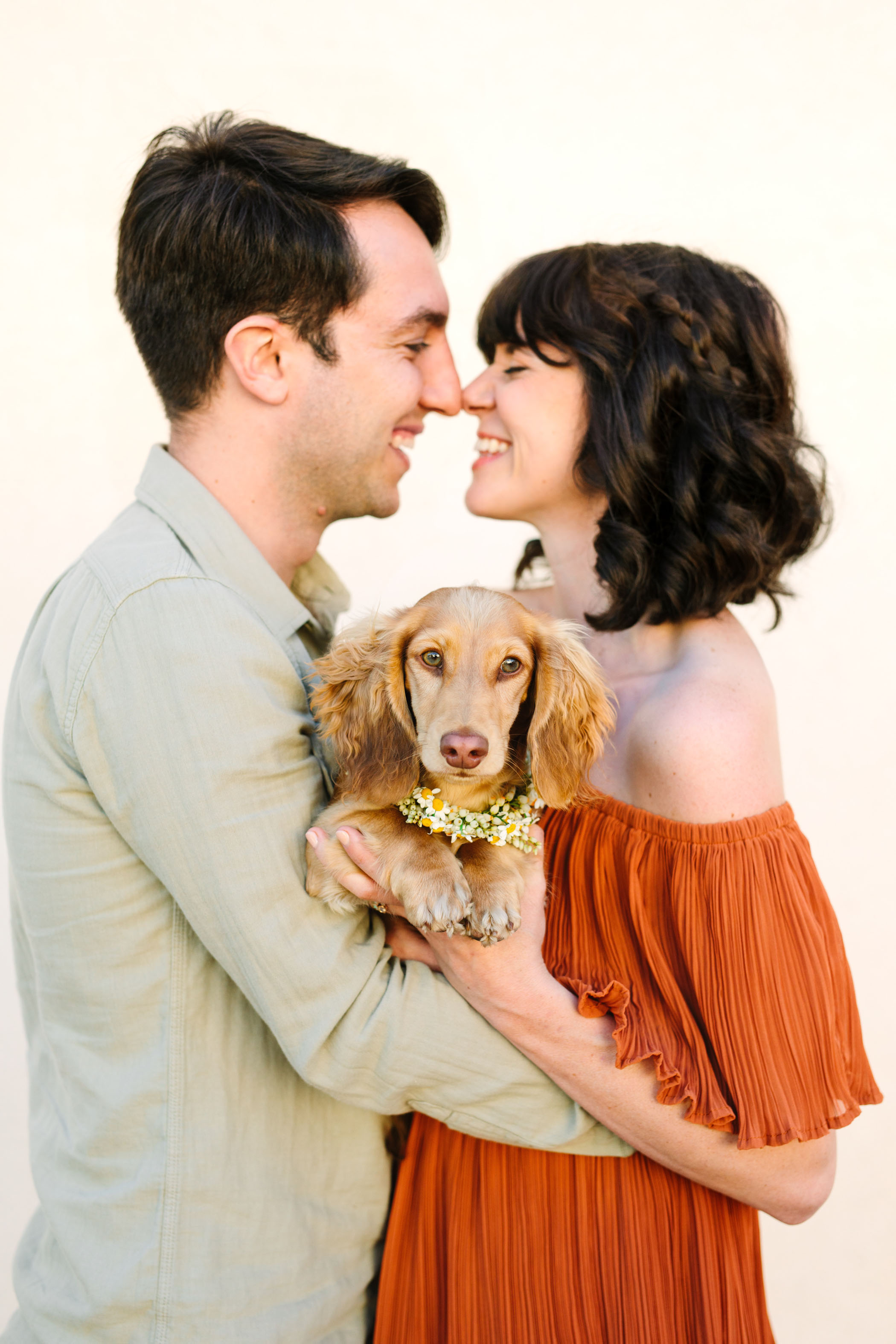 wedding pup flower collar