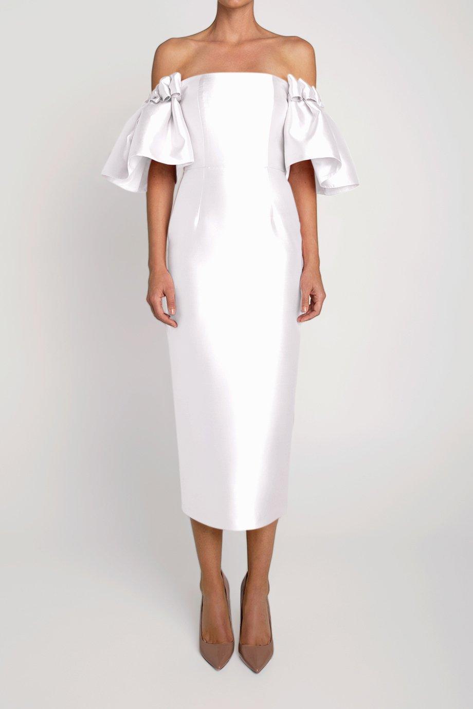 Poppy Silk and Wool Midi Dress