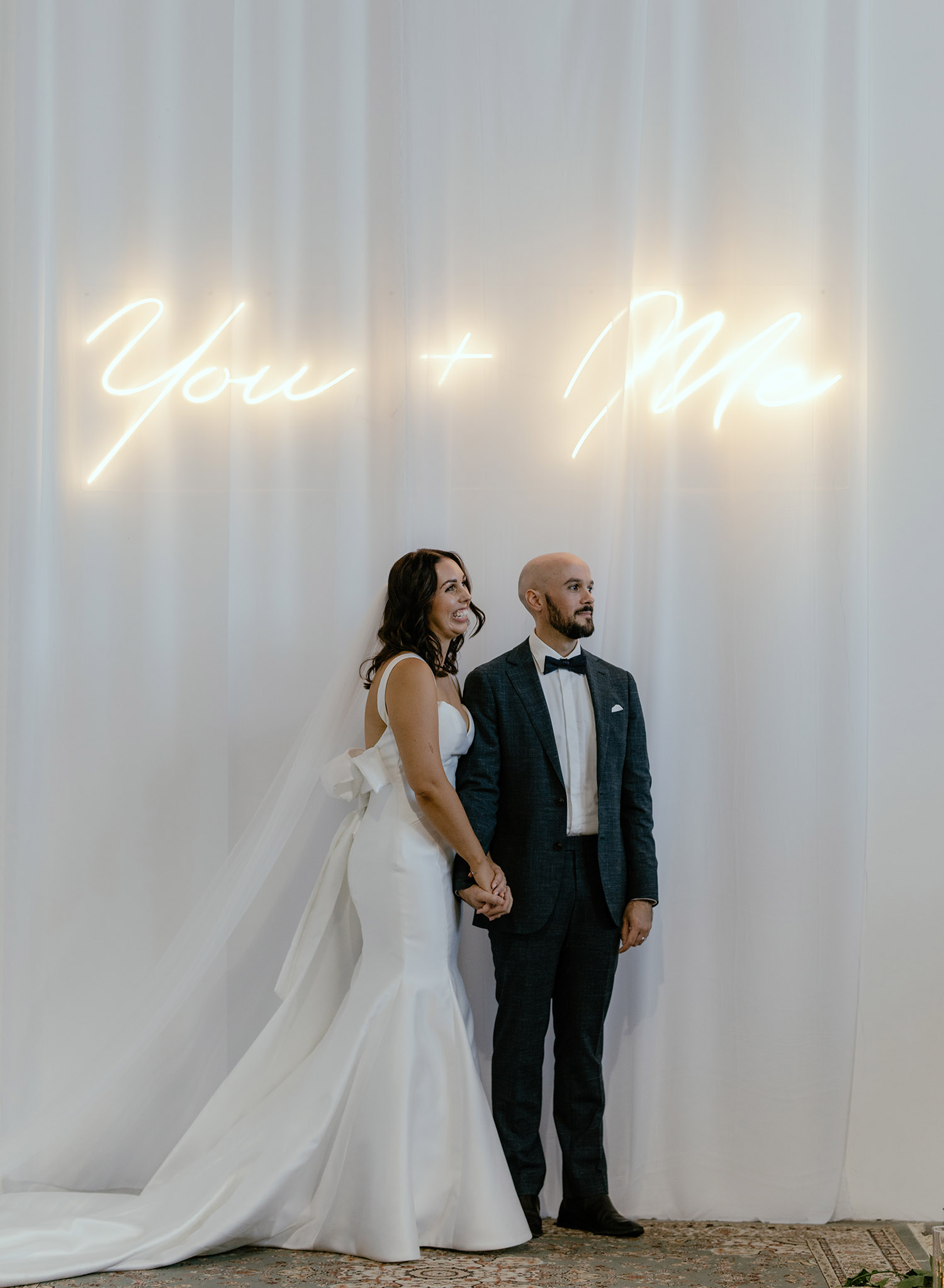 You and Me Wedding Sign by Sculpt Neon