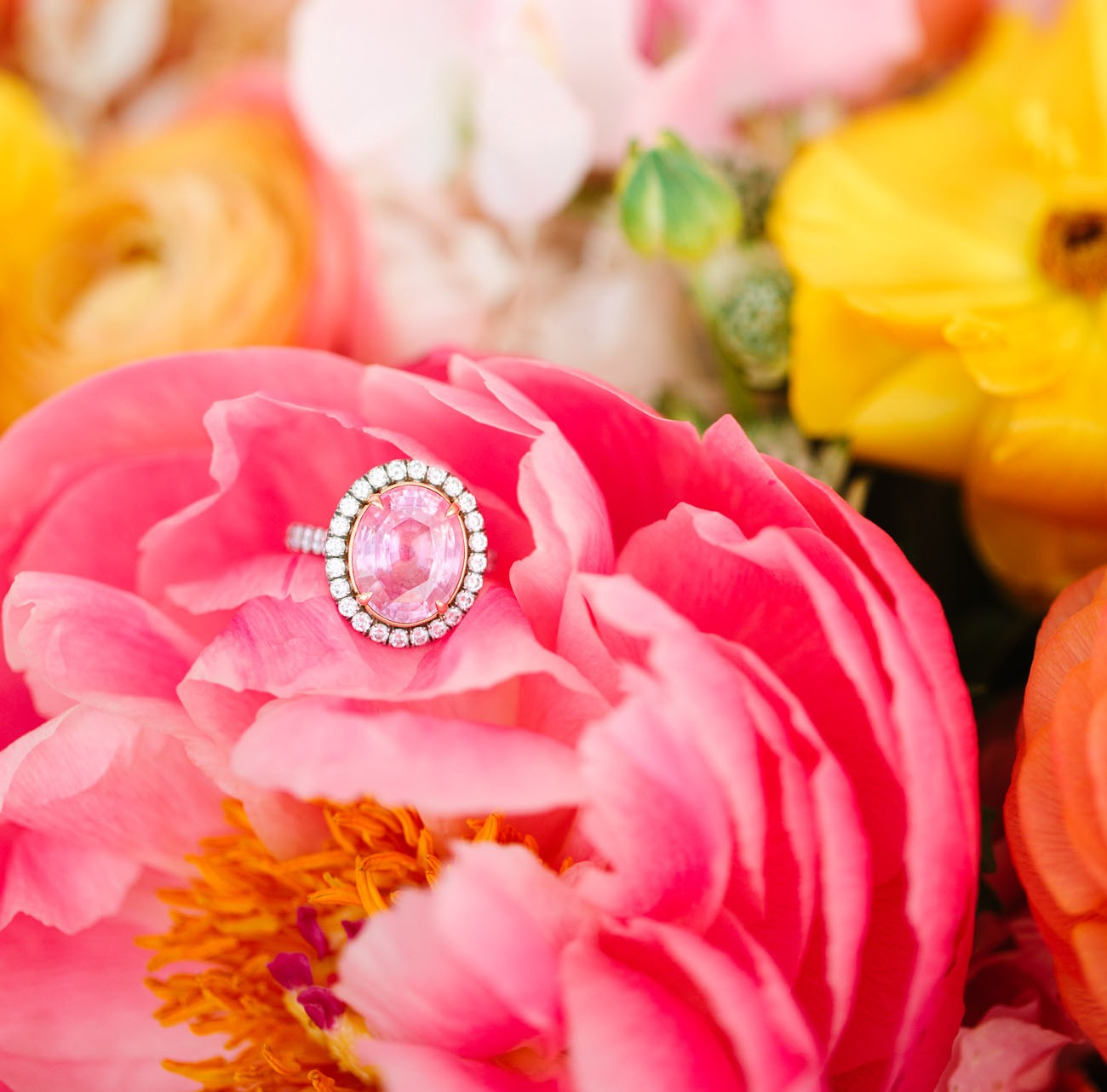 pink morganite gemstone alternative non diamond engagement rings