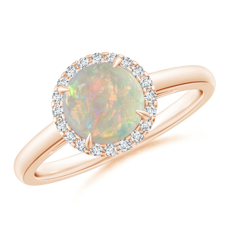 opal gemstone alternative engagement ring