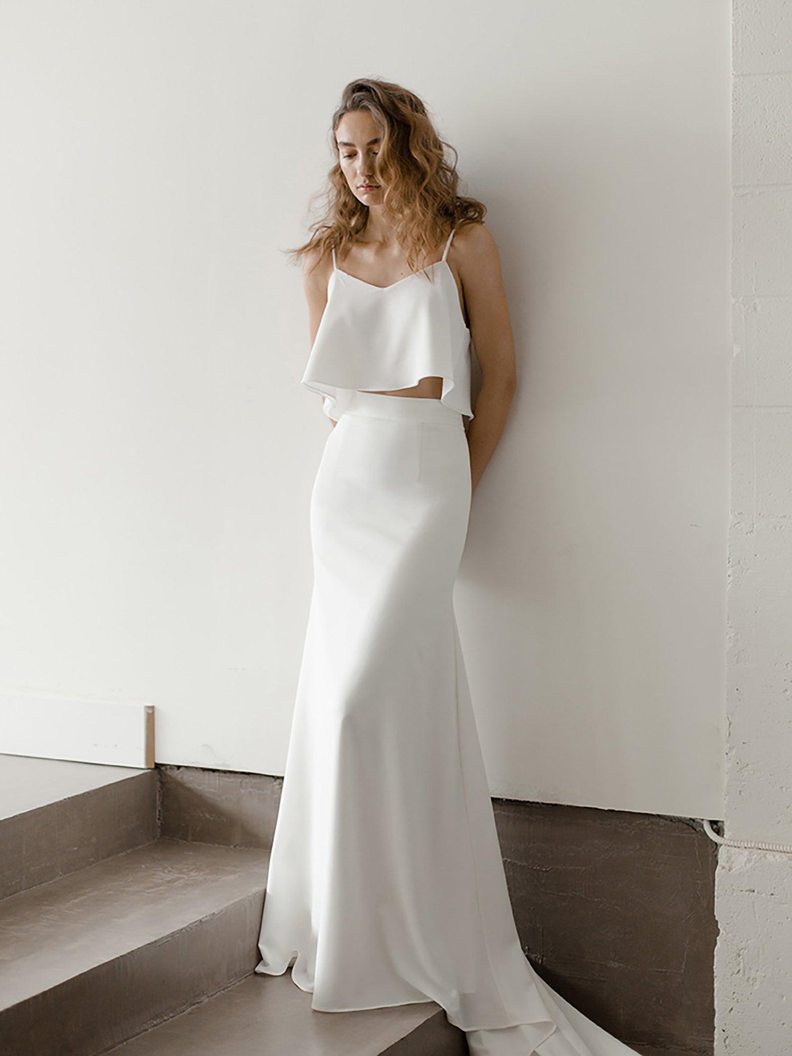 sleek bridal separates