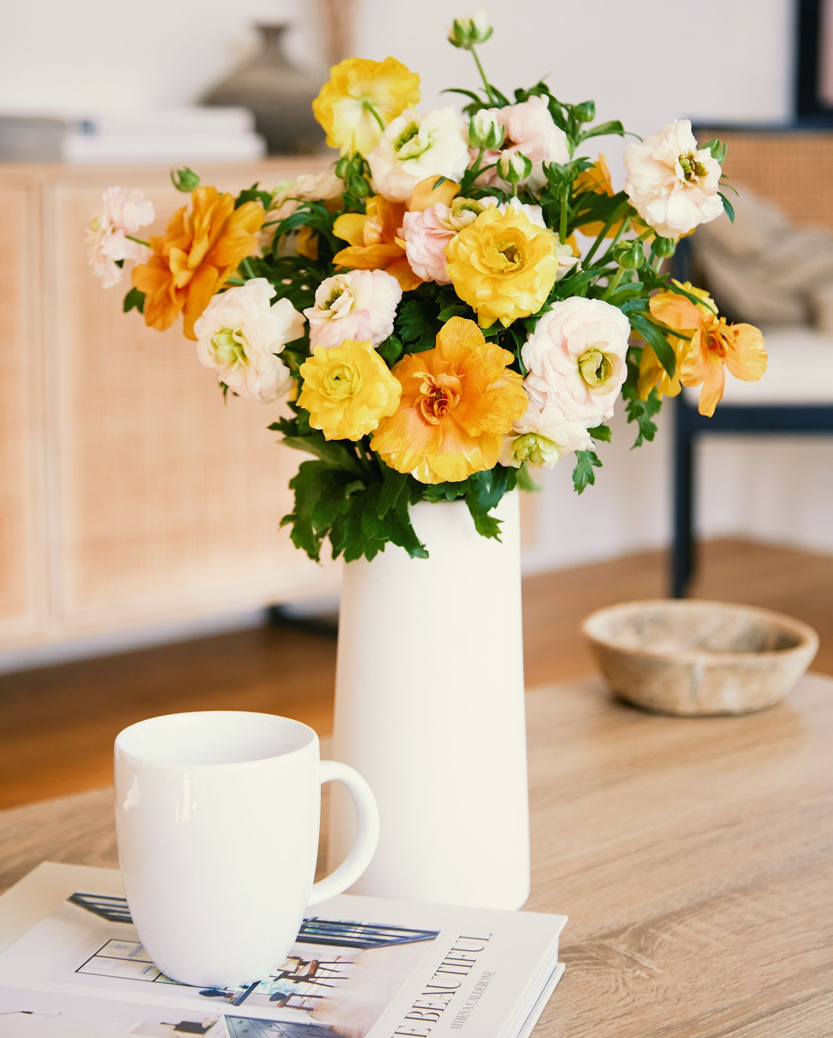bouqs summer flowers in white vase