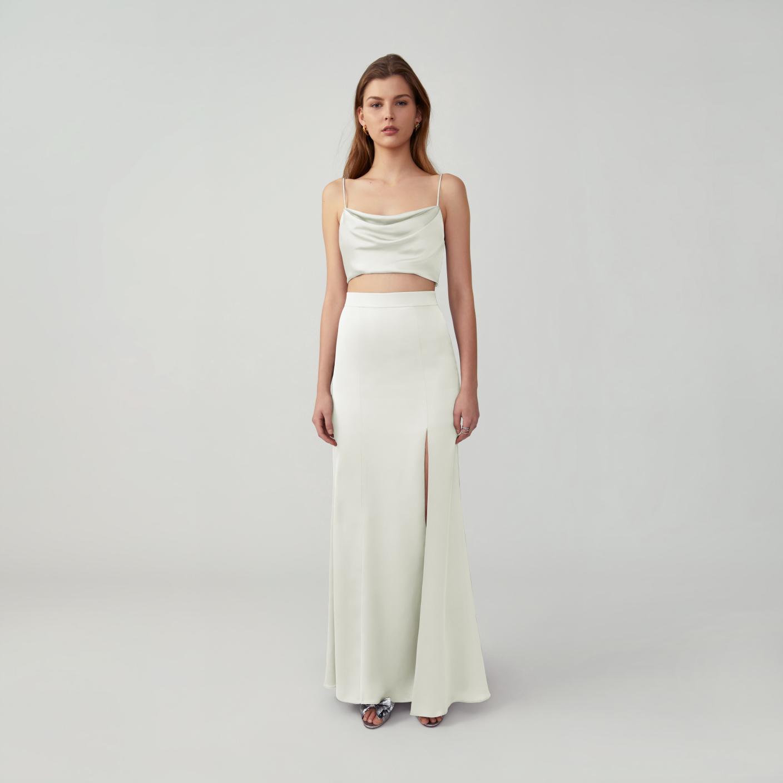 minimal two piece wedding dress