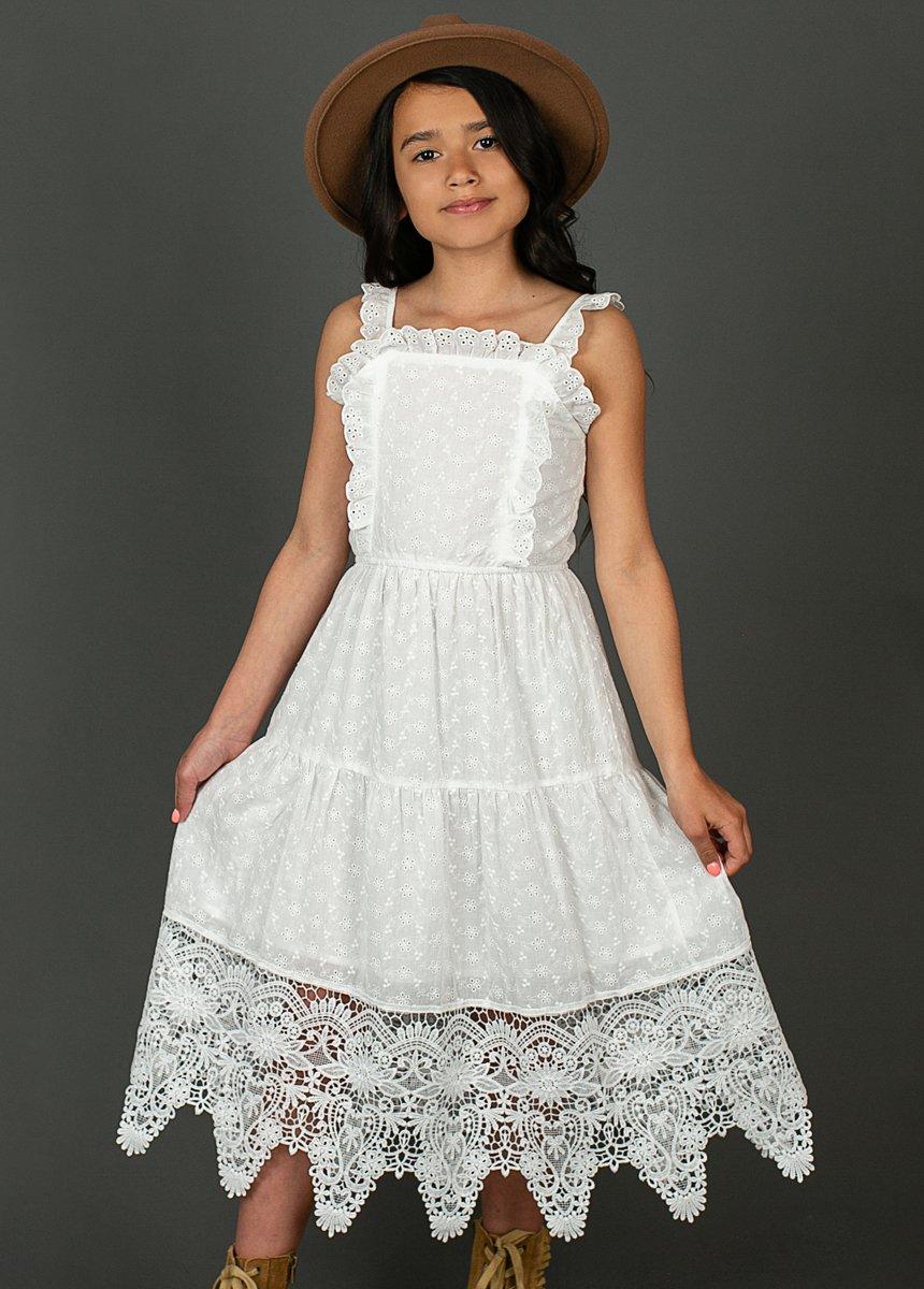 lace flower girl dress midi