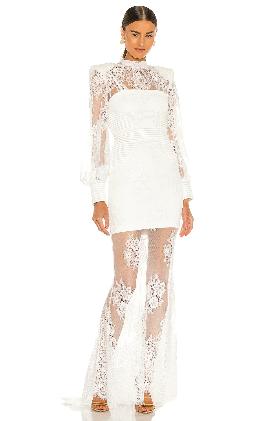 lace white dress for wedding reception