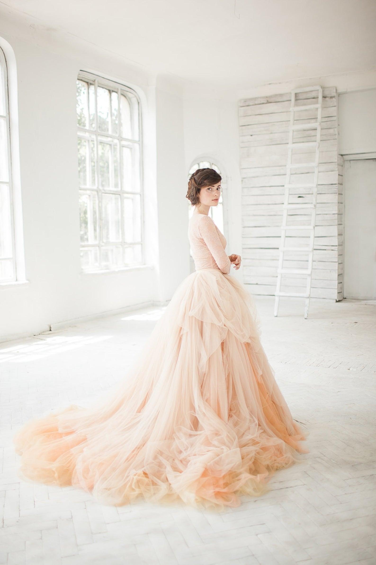 blush bridal separates