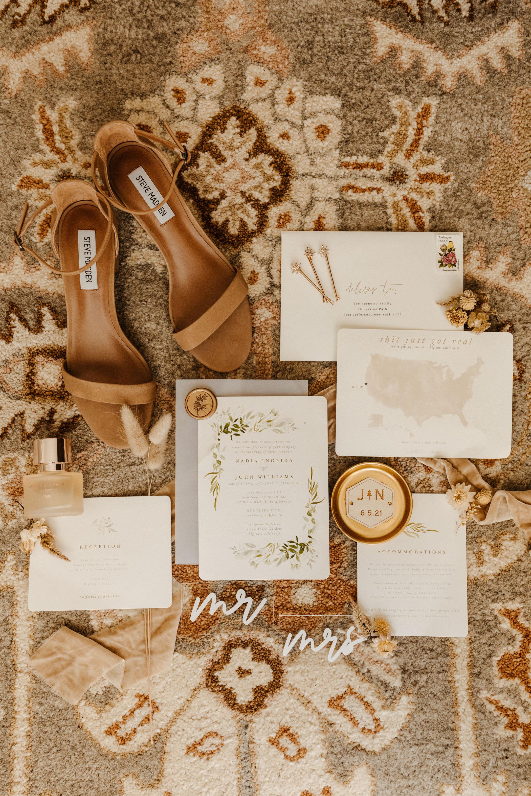 Neutral Boho Wedding Invitation