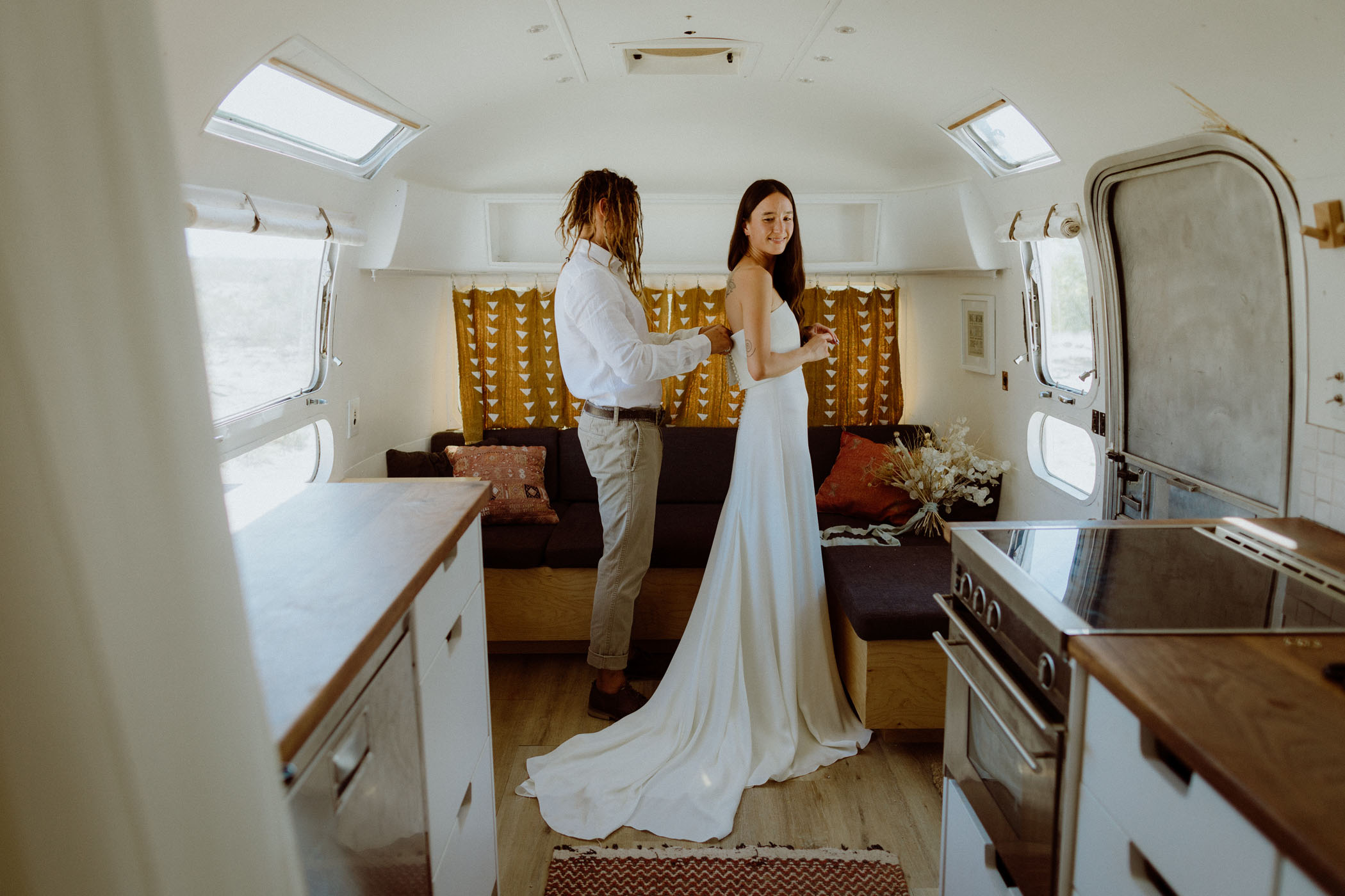 Getting Ready in an Airstream