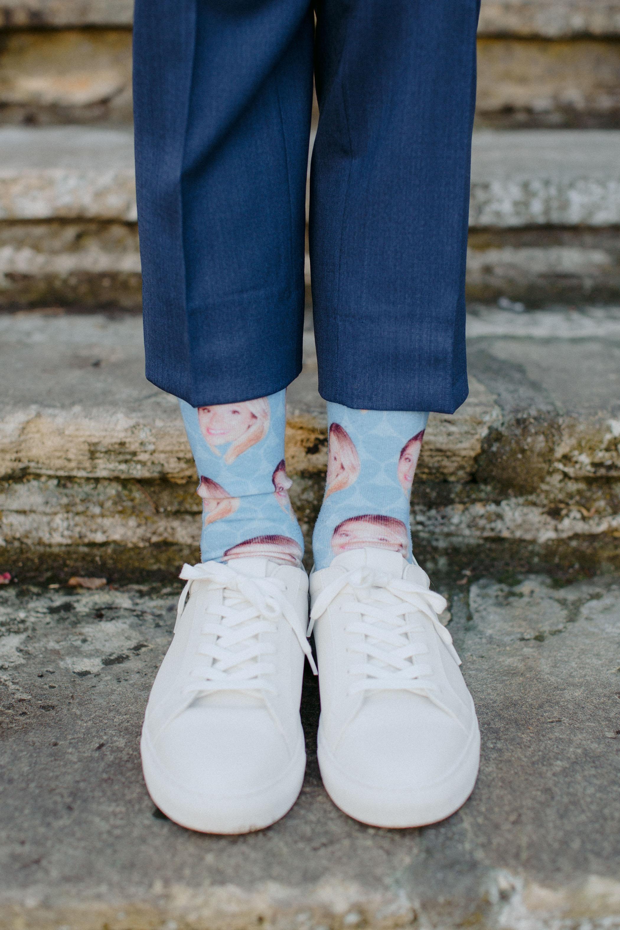 Custom Face Wedding Socks