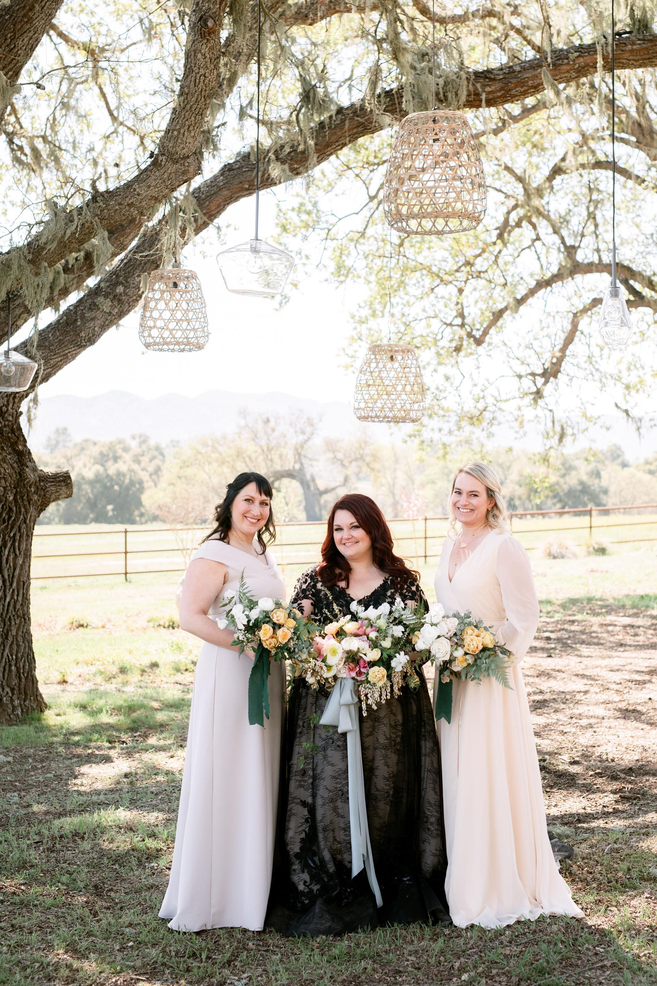 Black Wedding Dress White Bridesmaid Dresses