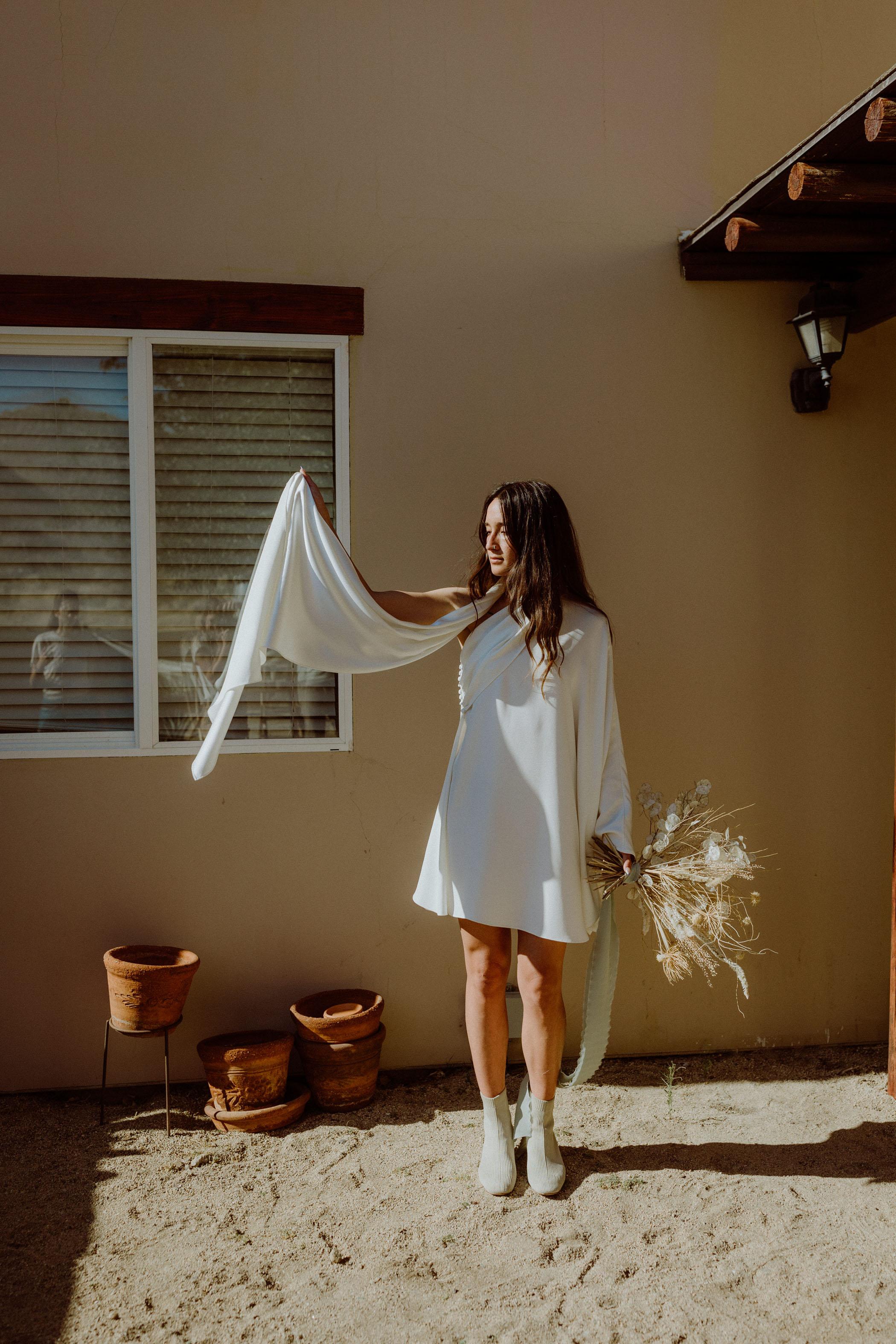 Ethical Wedding Dress in Joshua Tree